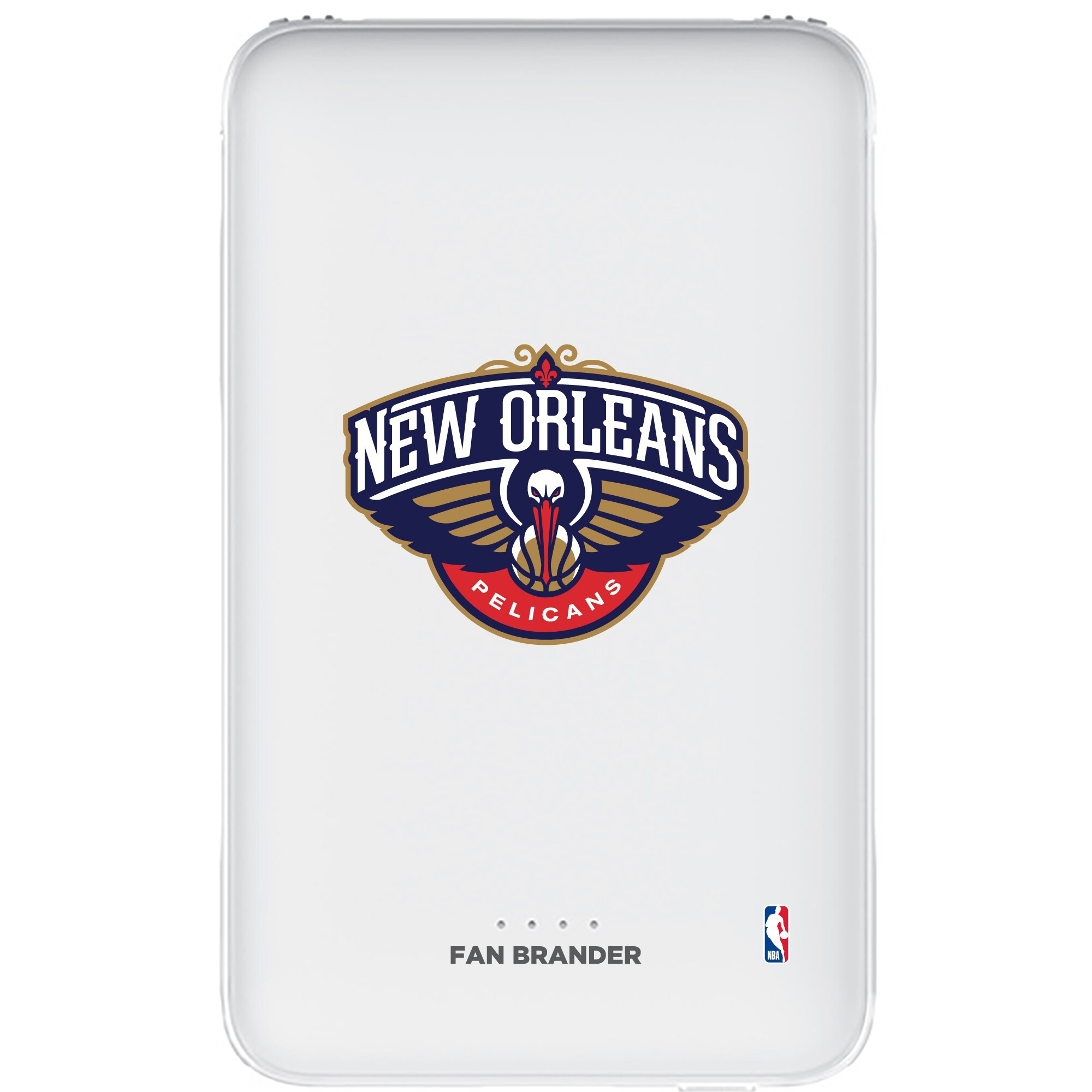 New Orleans Pelicans 5000mAh Portable Power Bank - White