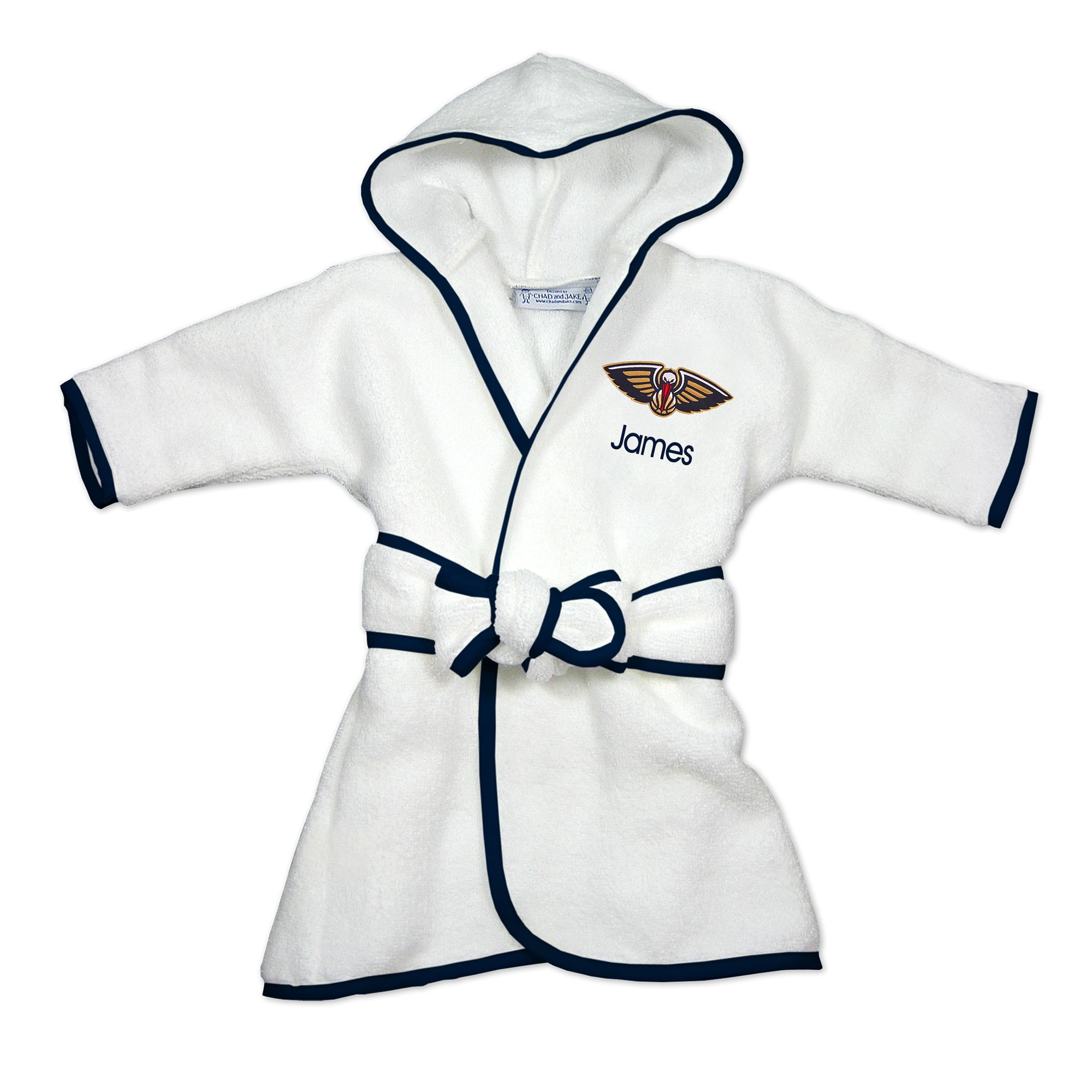 New Orleans Pelicans Infant Personalized Robe - White