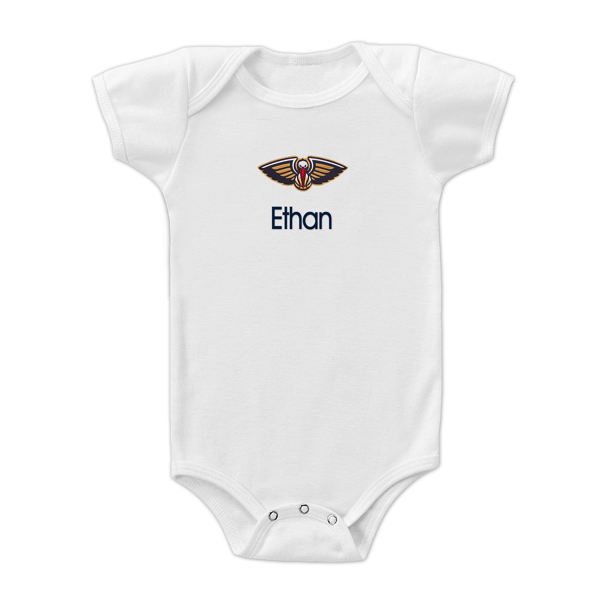 New Orleans Pelicans Infant Personalized Bodysuit - White