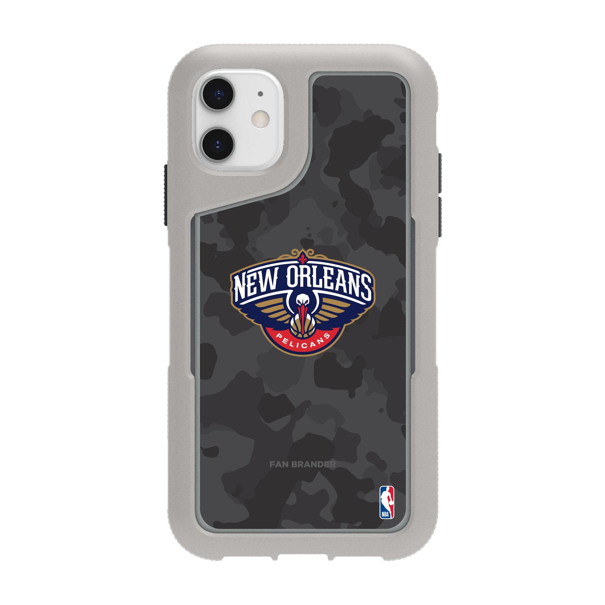 New Orleans Pelicans Griffin Survivor Endurance Camo iPhone Case - Gray