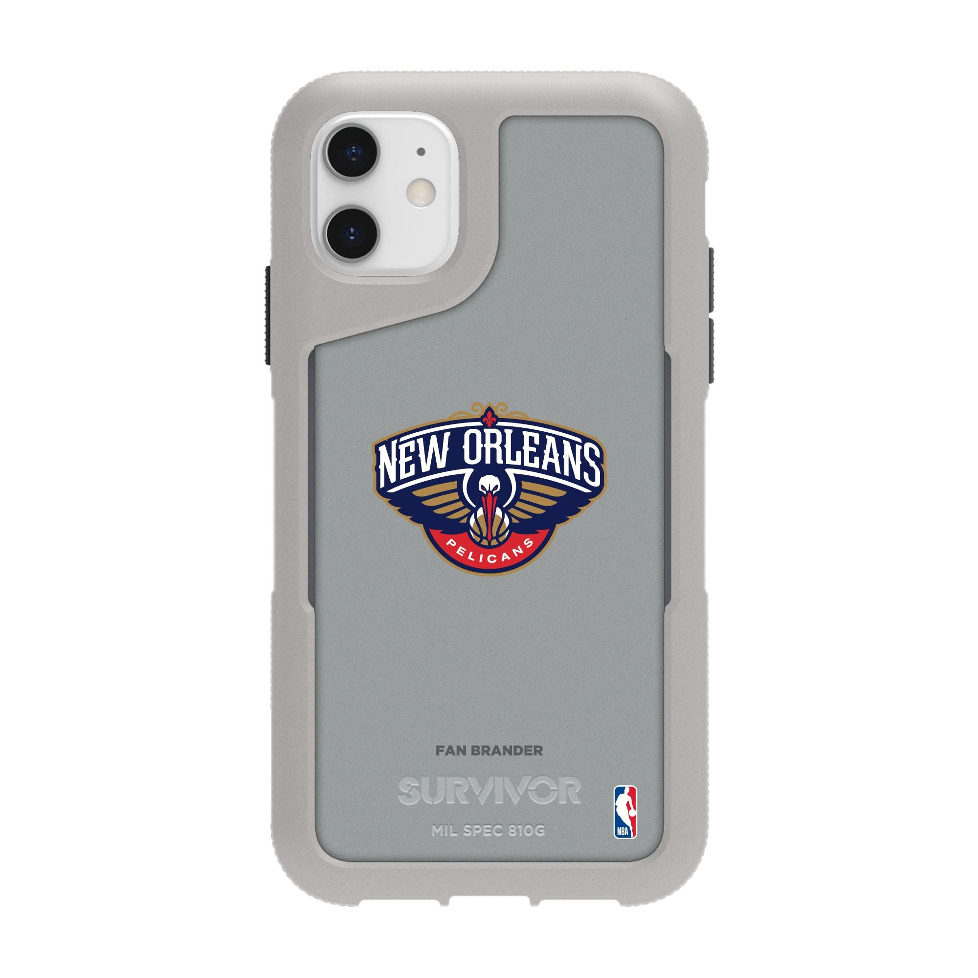 New Orleans Pelicans Griffin Survivor Endurance iPhone Case - Gray