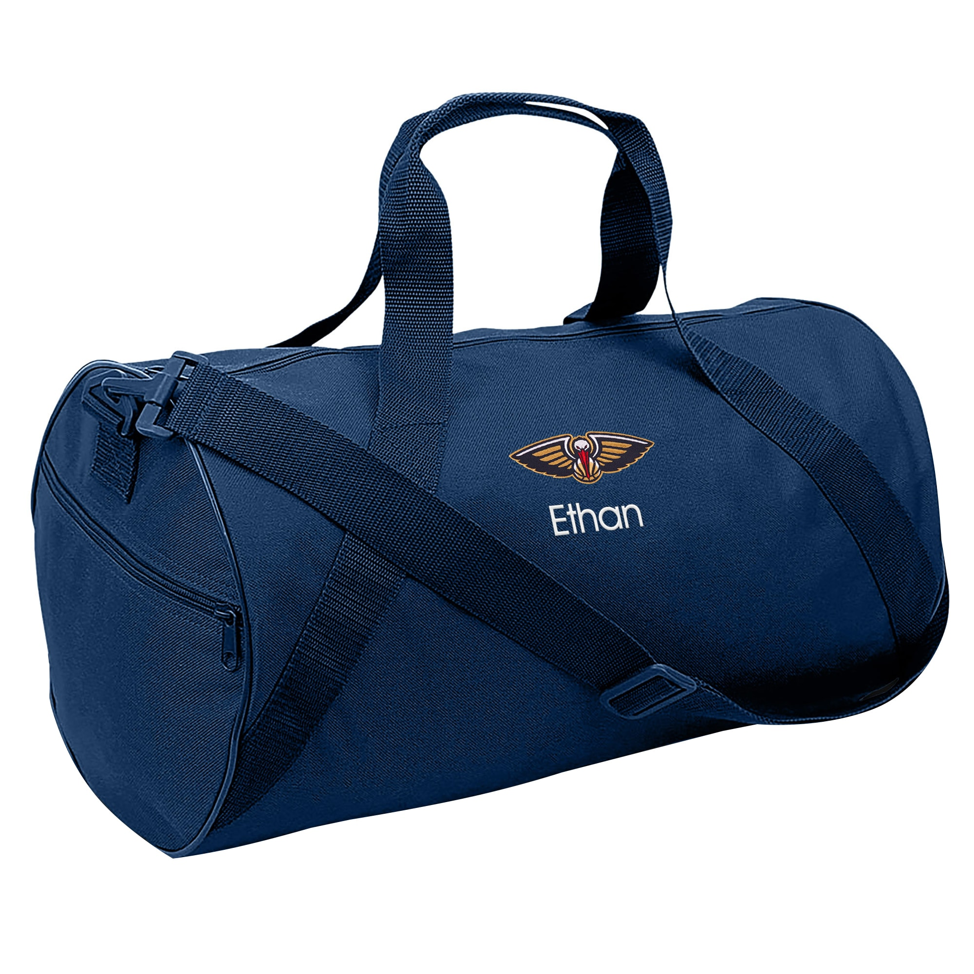 New Orleans Pelicans Youth Personalized Duffle Bag - Navy