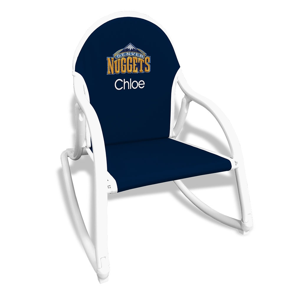 Denver Nuggets Children's Personalized Rocking Chair - Navy