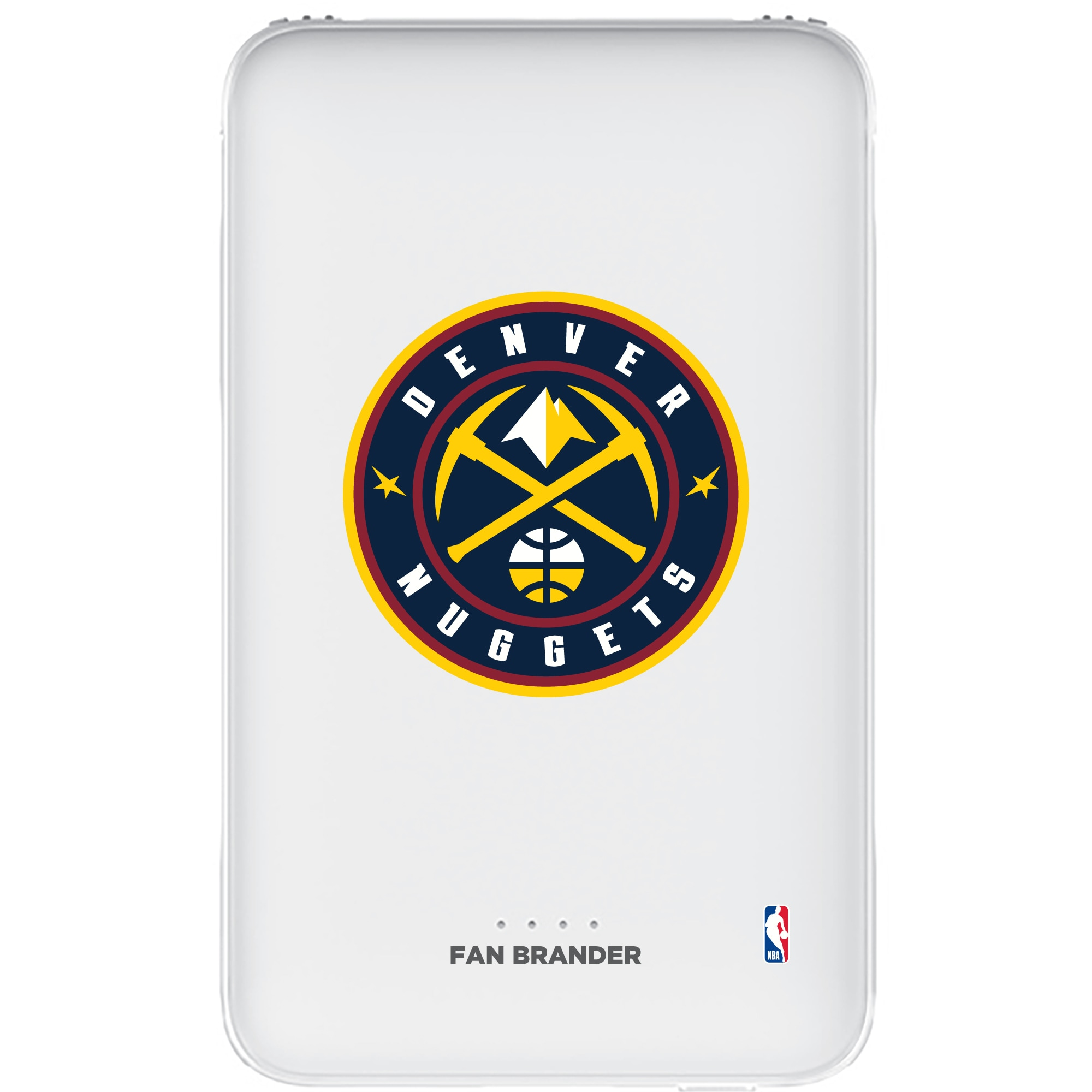 Denver Nuggets 5000mAh Portable Power Bank - White