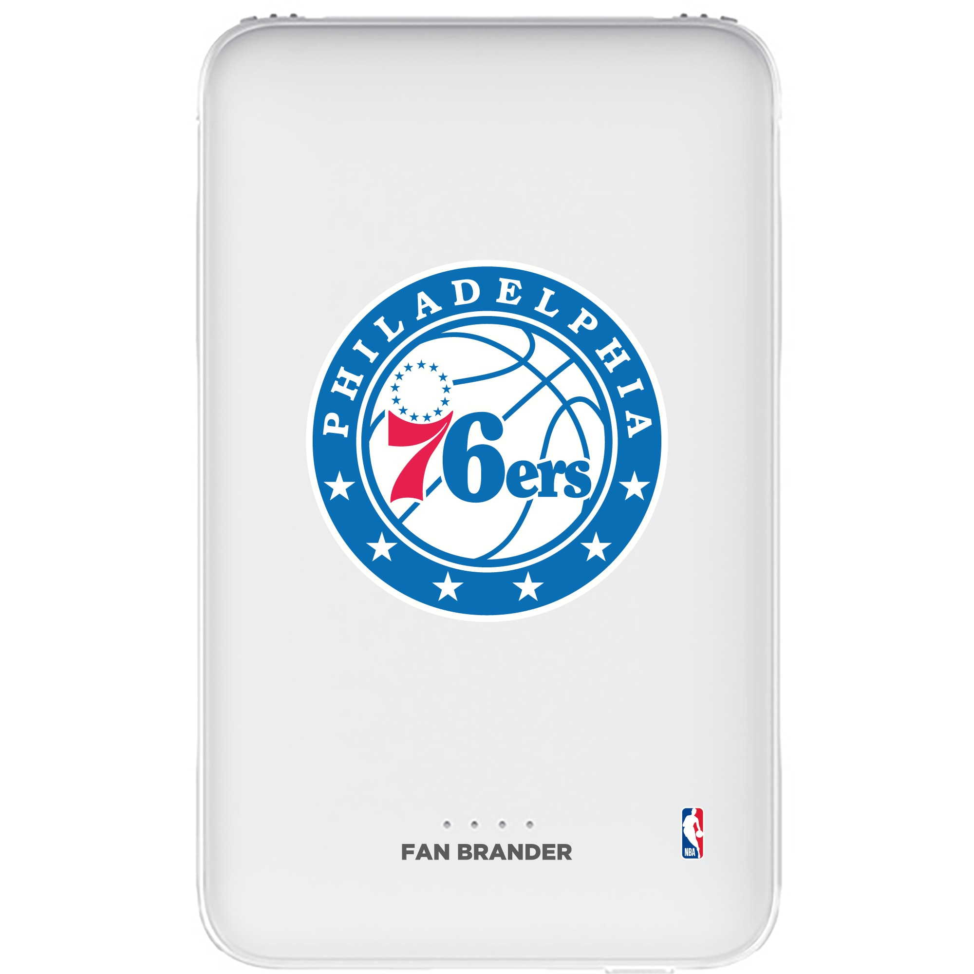 Philadelphia 76ers 5000mAh Portable Power Bank - White