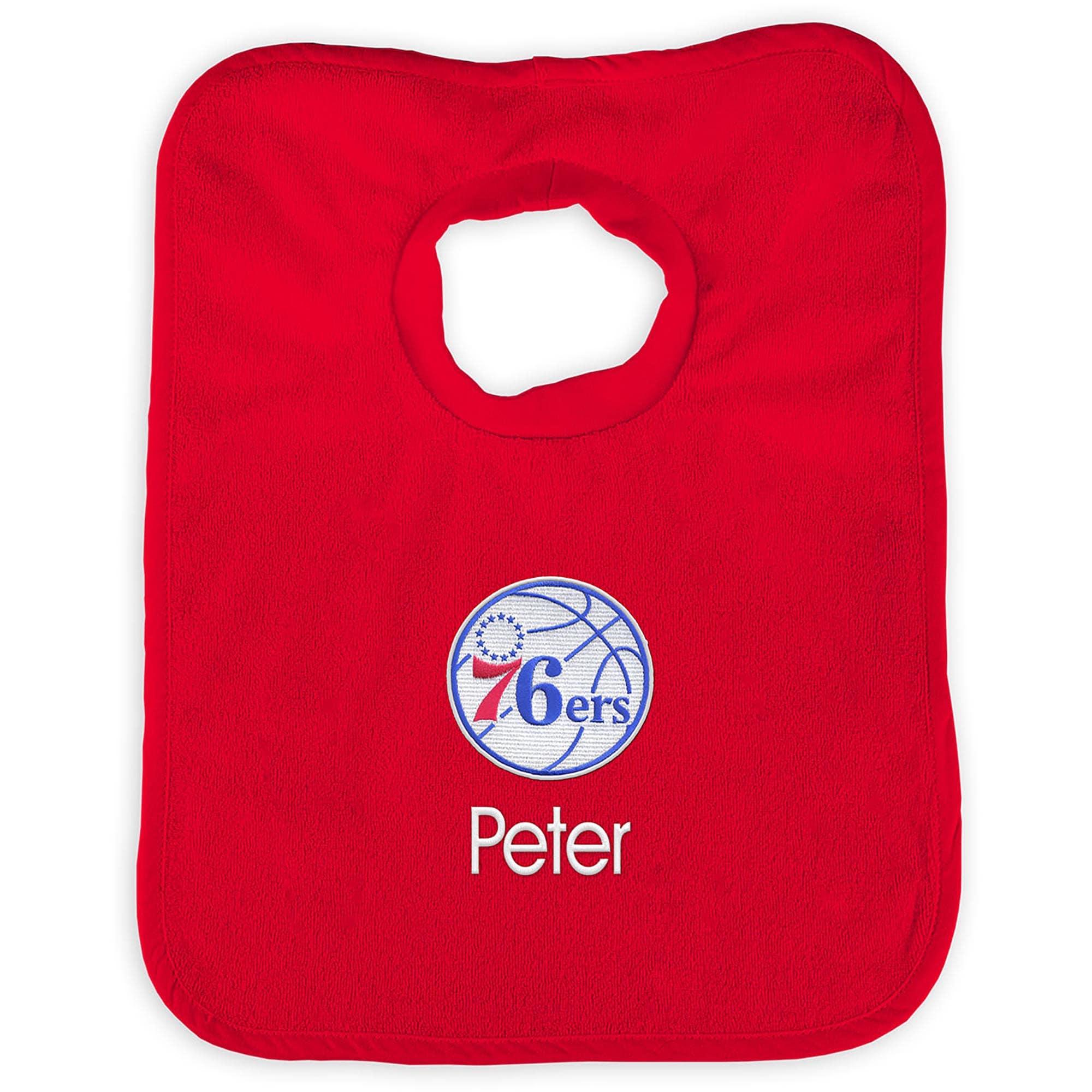 Philadelphia 76ers Infant Personalized Bib - Red