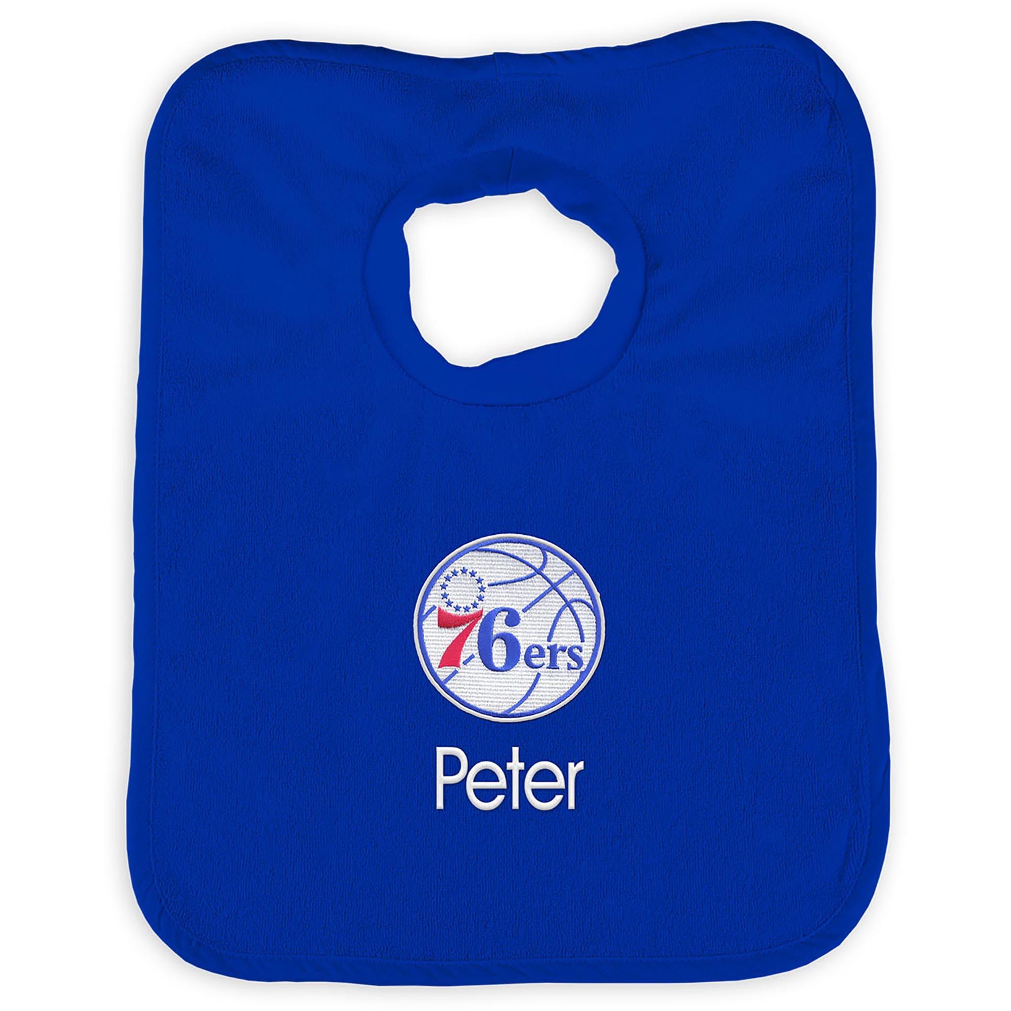 Philadelphia 76ers Infant Personalized Bib - Royal