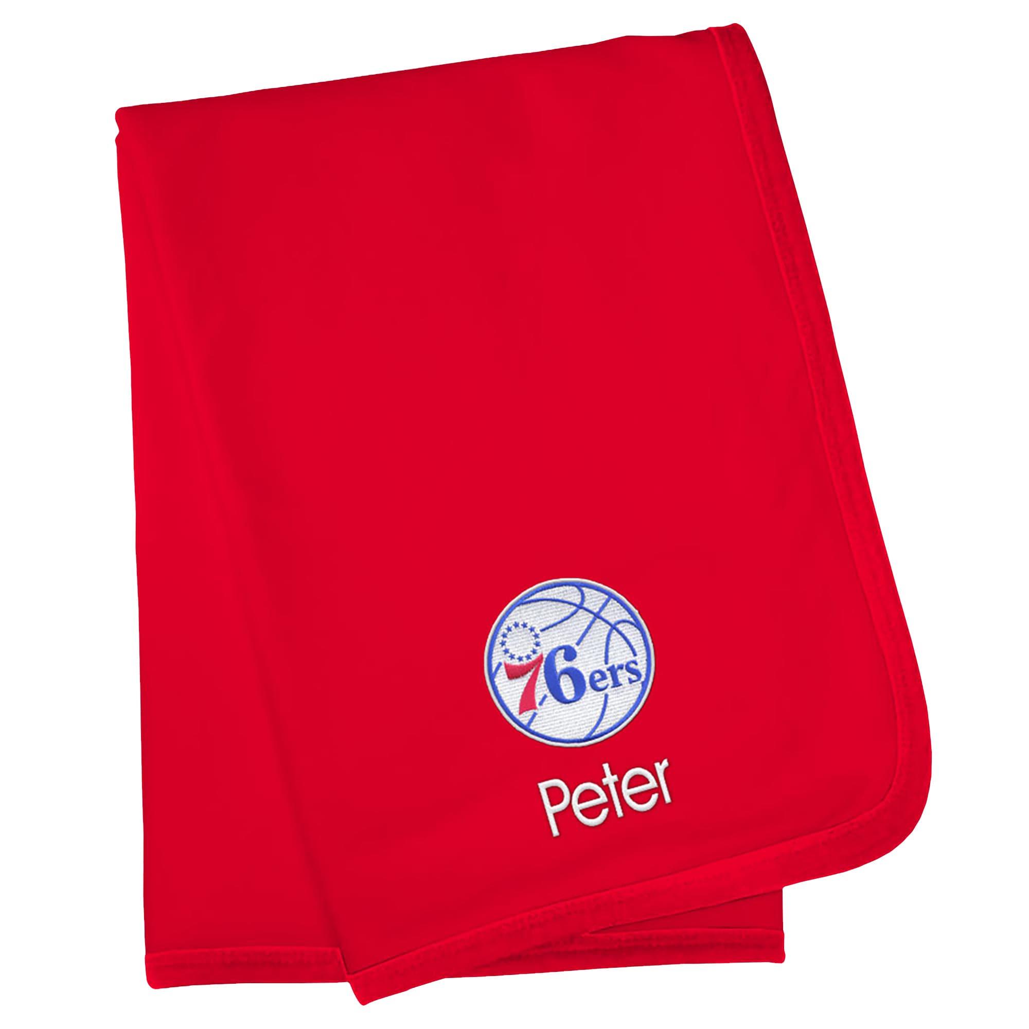Philadelphia 76ers Infant Personalized Blanket - Red