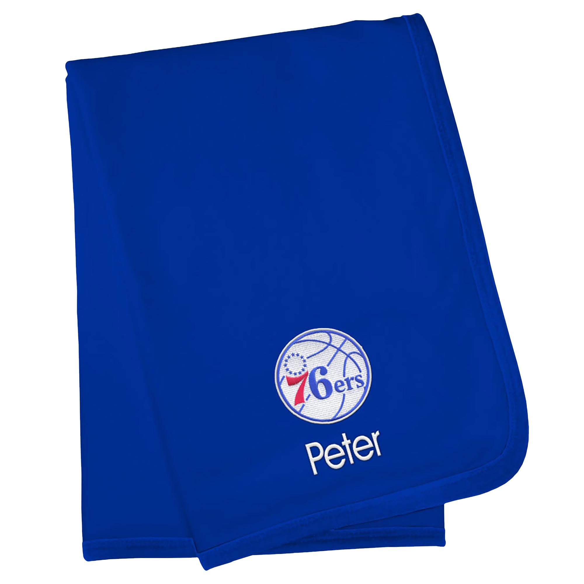 Philadelphia 76ers Infant Personalized Blanket - Royal