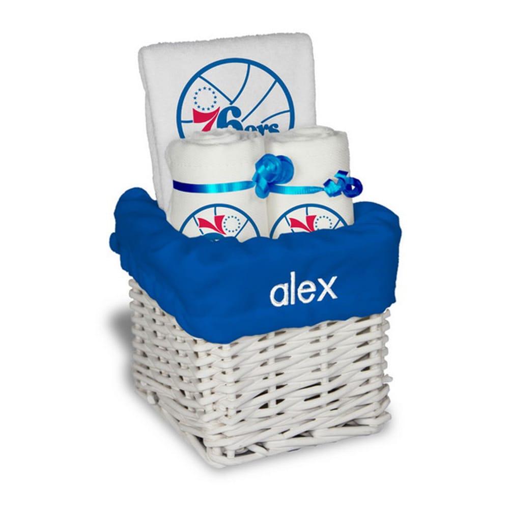 Philadelphia 76ers Personalized Small Gift Basket - White