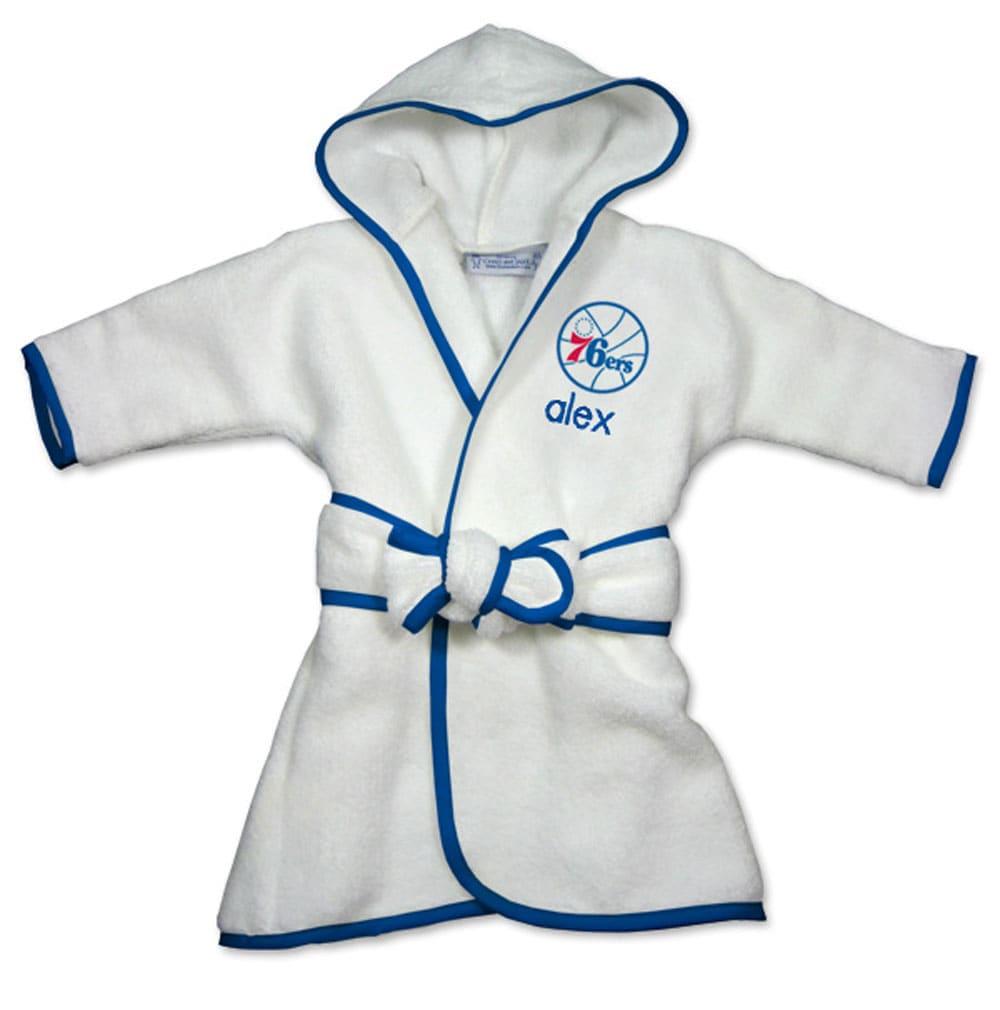 Philadelphia 76ers Infant Personalized Robe - White