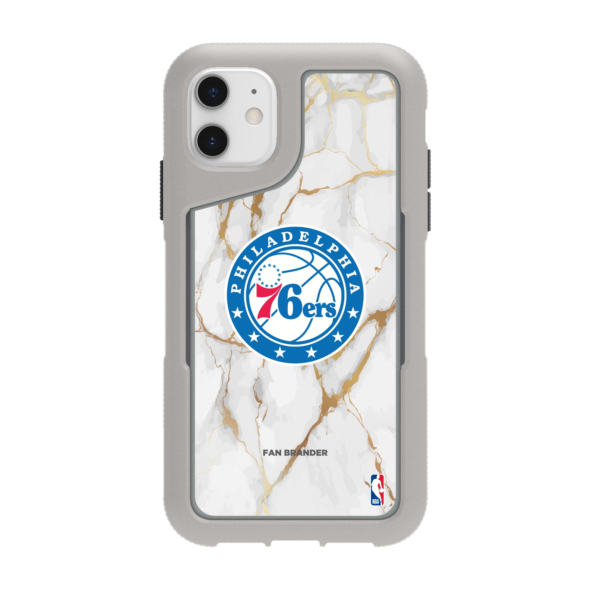 Philadelphia 76ers Griffin Survivor Endurance Marble iPhone Case - Gray