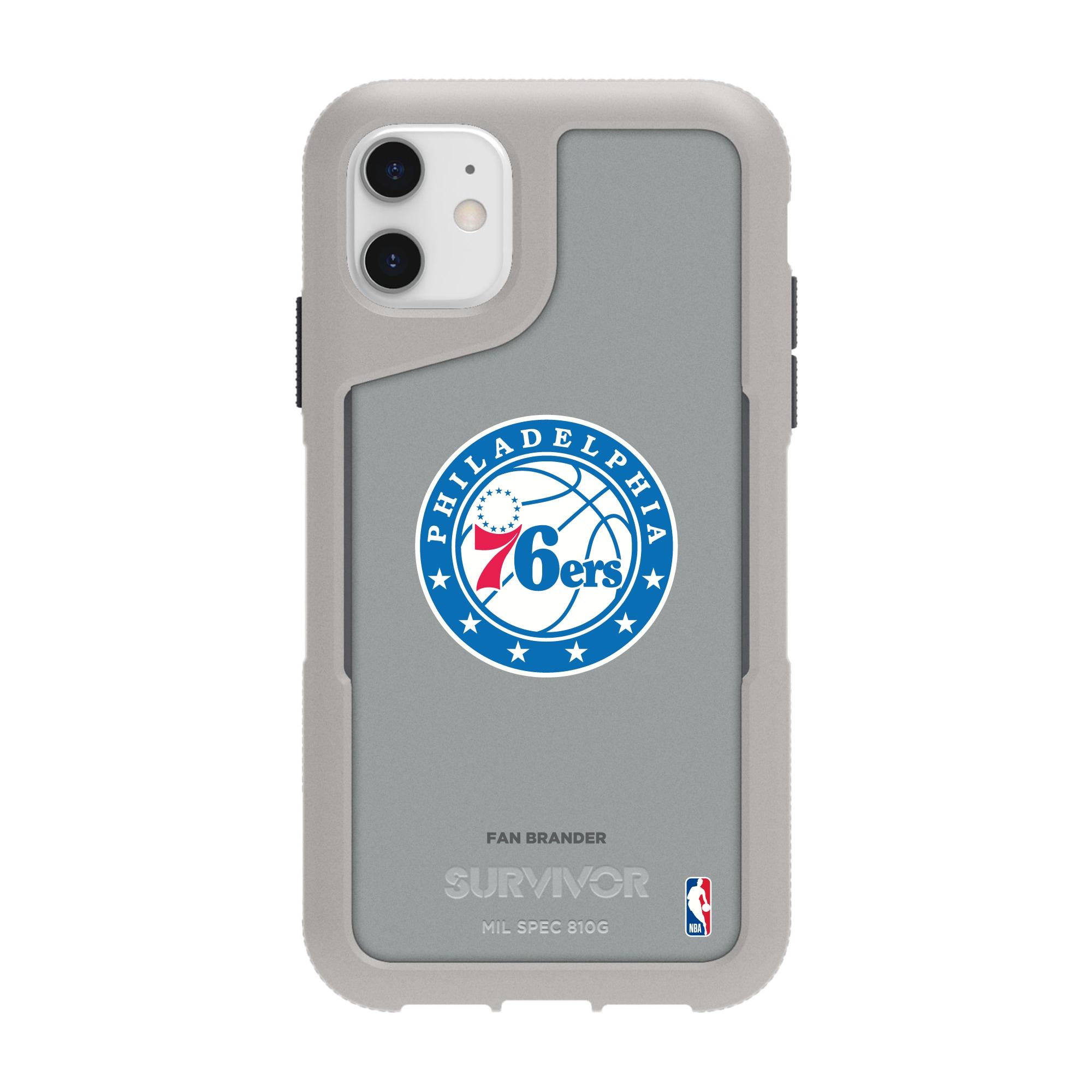Philadelphia 76ers Griffin Survivor Endurance iPhone Case - Gray