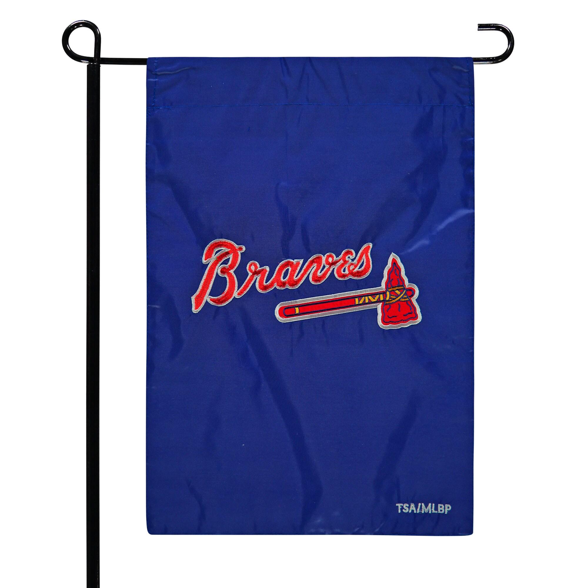 """Atlanta Braves 12.5"""" x 19"""" Applique Double-Sided Garden Flag"""
