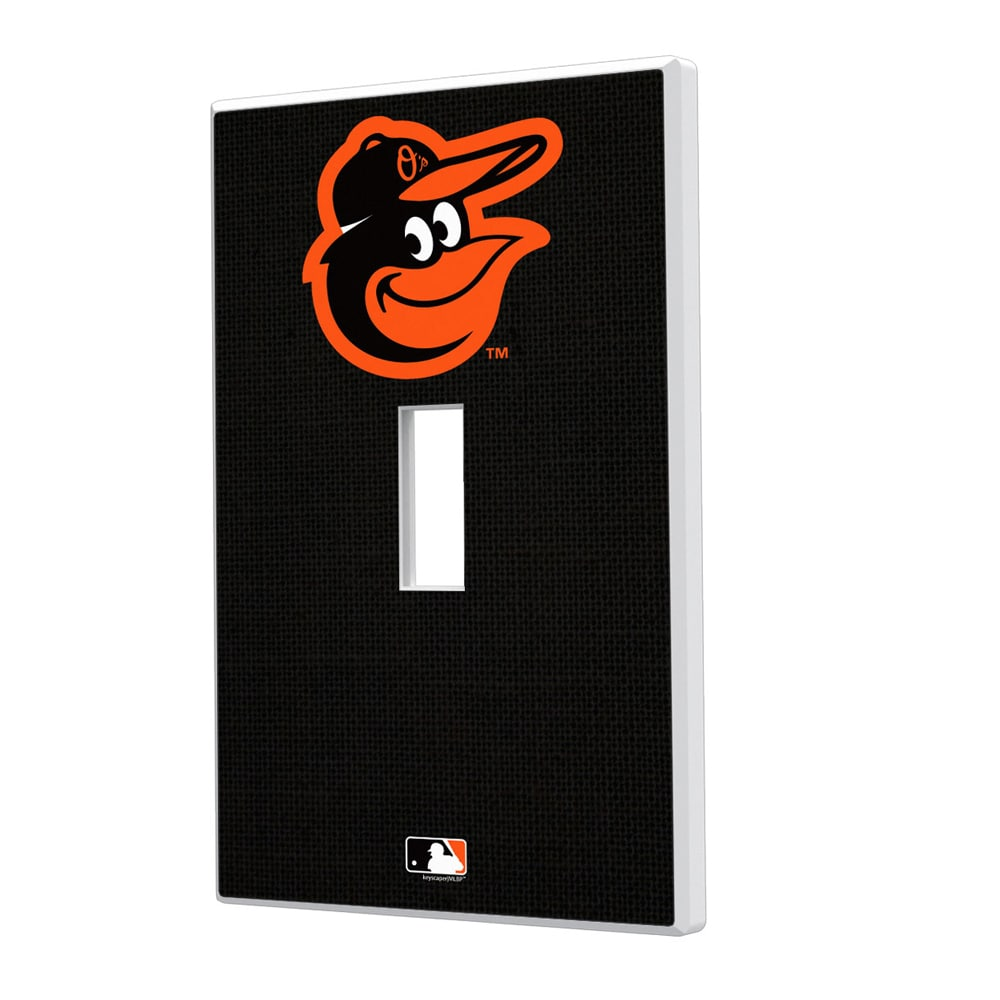 Baltimore Orioles Solid Single Toggle Light Switch Plate
