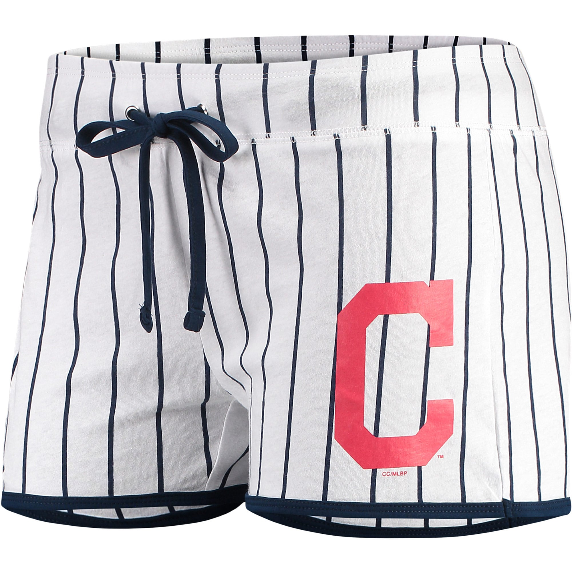 Cleveland Indians Concepts Sport Women's Vigor Sleep Shorts - White/Navy