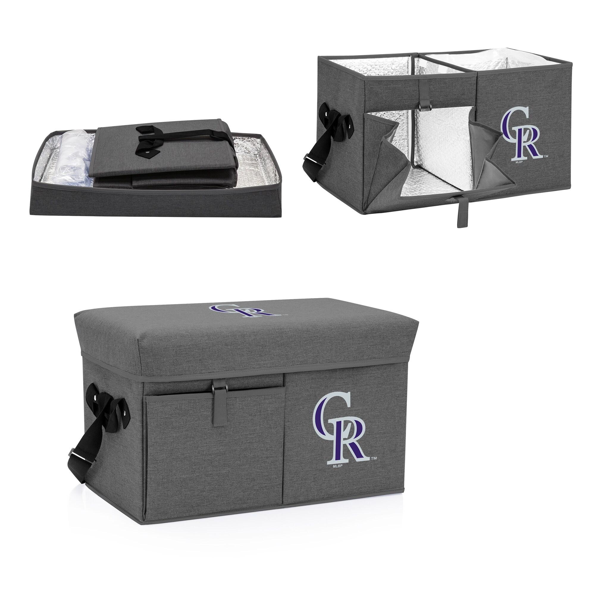 Colorado Rockies Ottoman Cooler & Seat - Gray