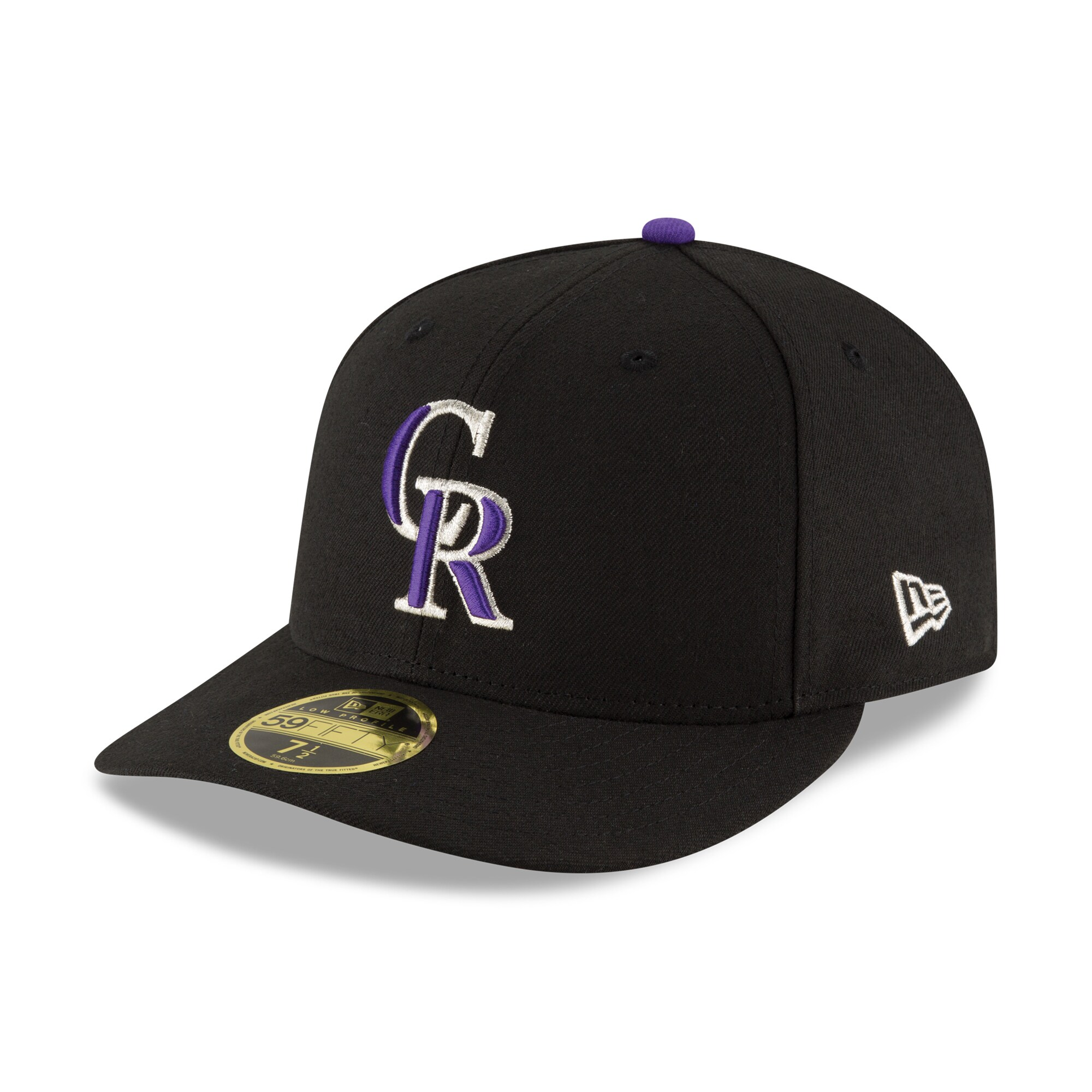 Colorado Rockies New Era Game Authentic Collection On-Field Low Profile 59FIFTY Fitted Hat - Black