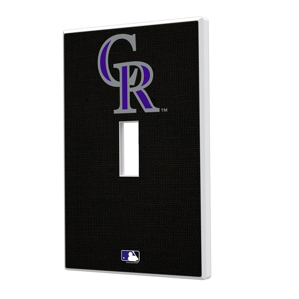 Colorado Rockies Solid Single Toggle Light Switch Plate