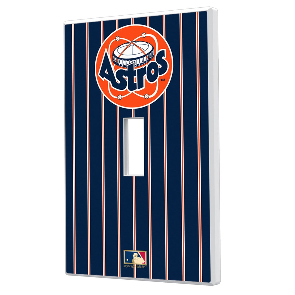 Houston Astros 1977-1998 Cooperstown Pinstripe Single Toggle Light Switch Plate