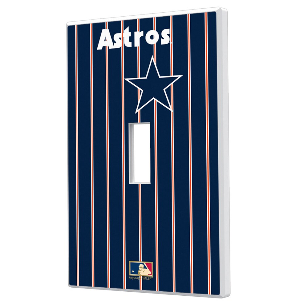 Houston Astros 1975-1981 Cooperstown Pinstripe Single Toggle Light Switch Plate