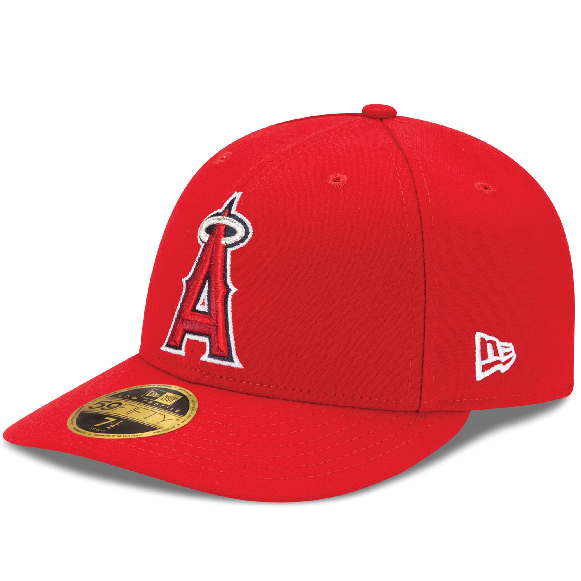 Los Angeles Angels New Era Alt Authentic Collection On-Field Low Profile 59FIFTY Fitted Hat - Red
