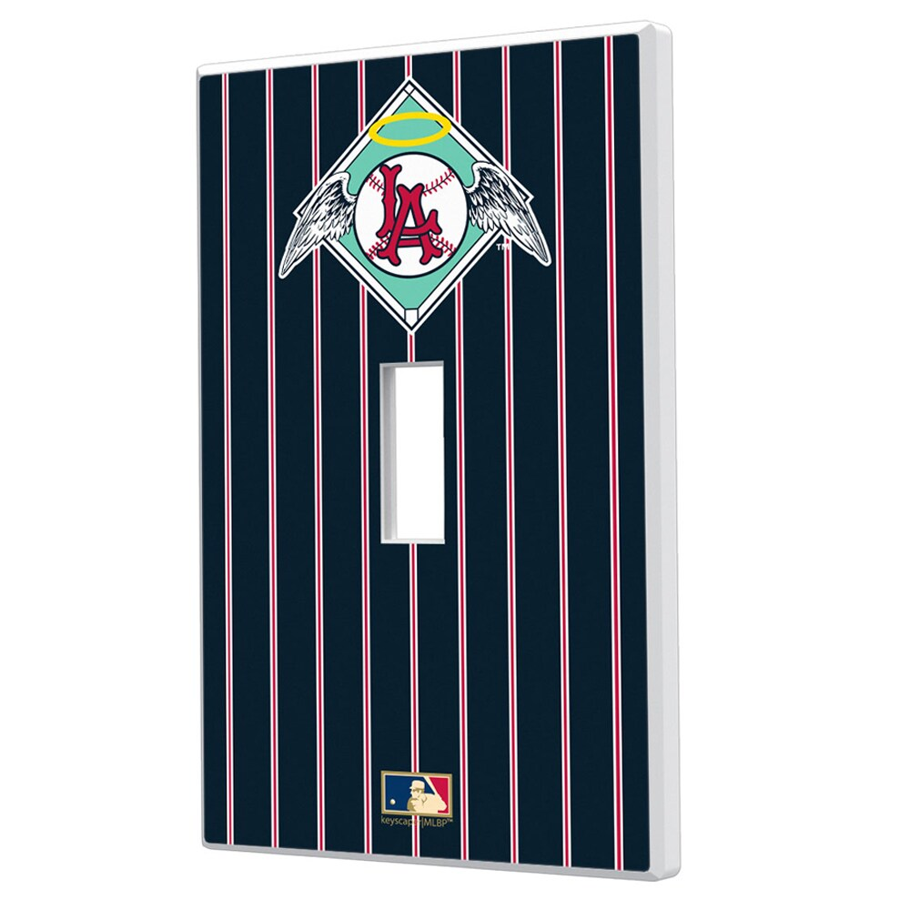 Los Angeles Angels 1961-1965 Cooperstown Pinstripe Single Toggle Light Switch Plate