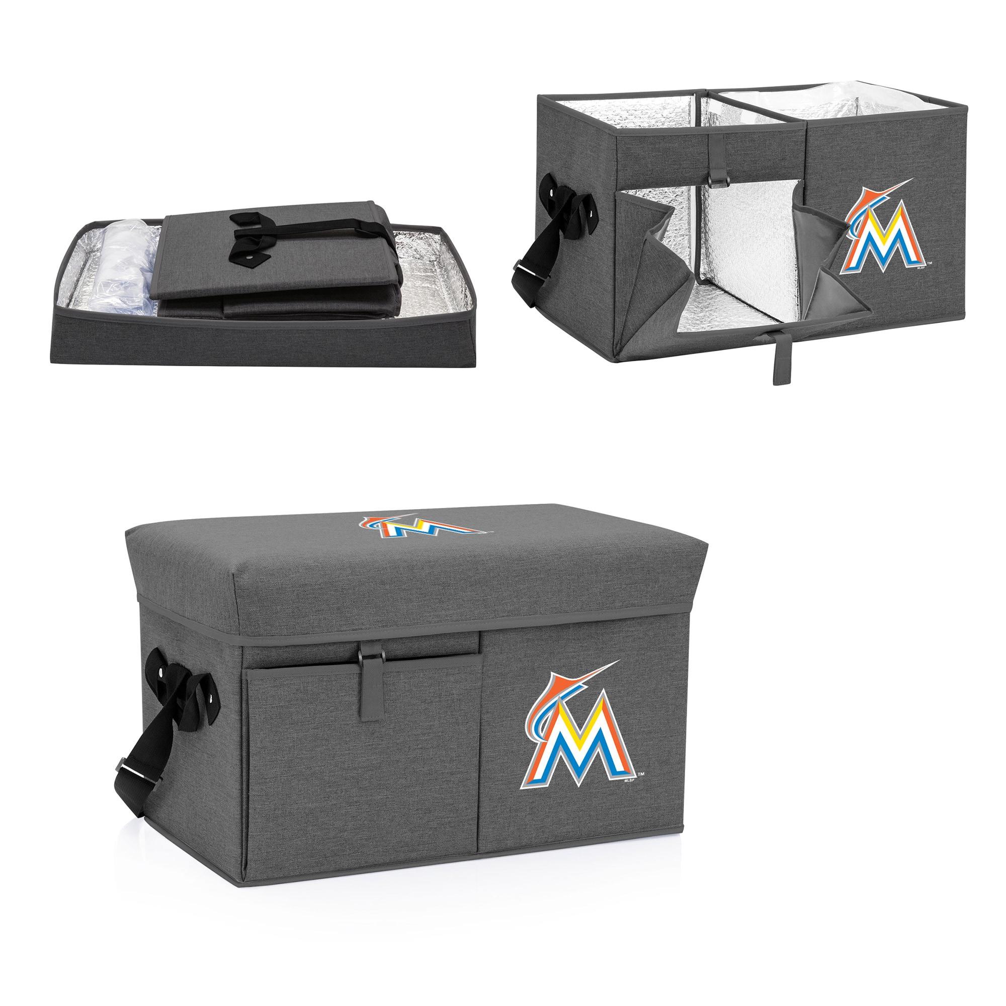 Miami Marlins Ottoman Cooler & Seat - Gray