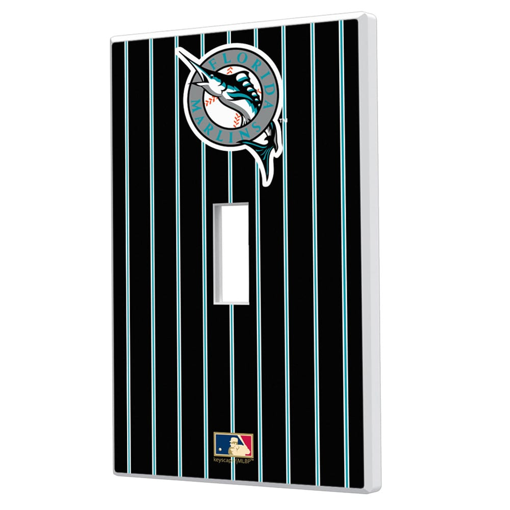 Miami Marlins 1993-2011 Cooperstown Pinstripe Single Toggle Light Switch Plate