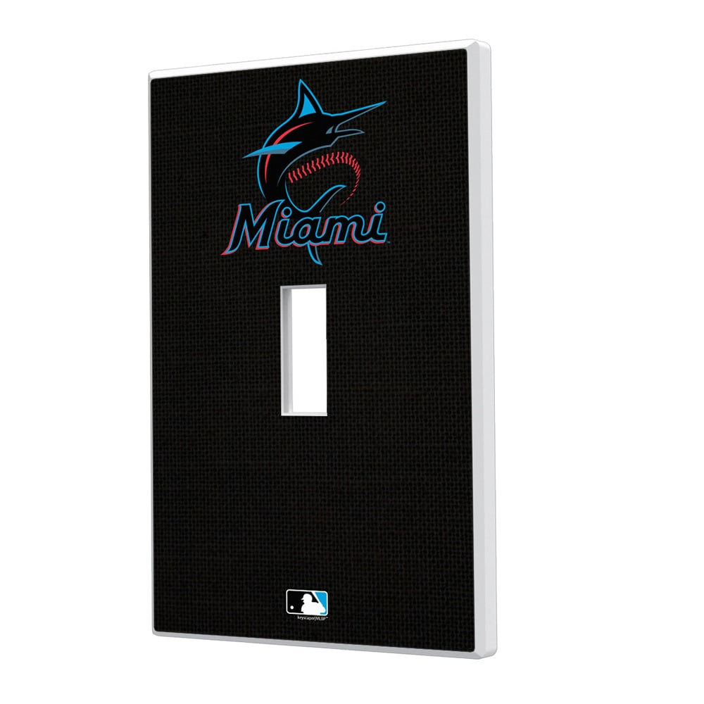 Miami Marlins Solid Single Toggle Light Switch Plate