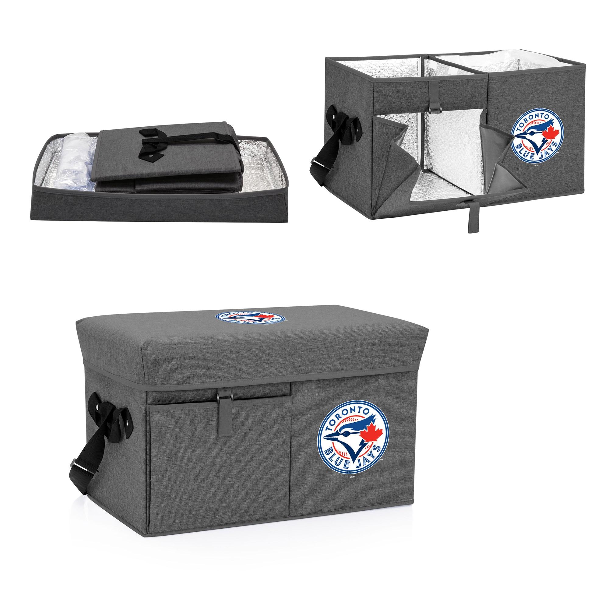 Toronto Blue Jays Ottoman Cooler & Seat - Gray