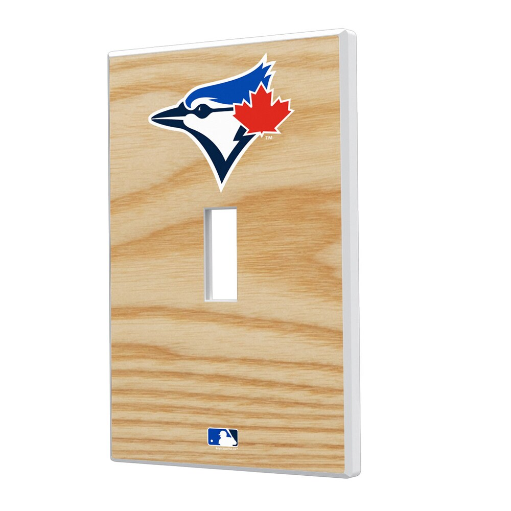 Toronto Blue Jays Baseball Bat Design Single Toggle Light Switch Plate