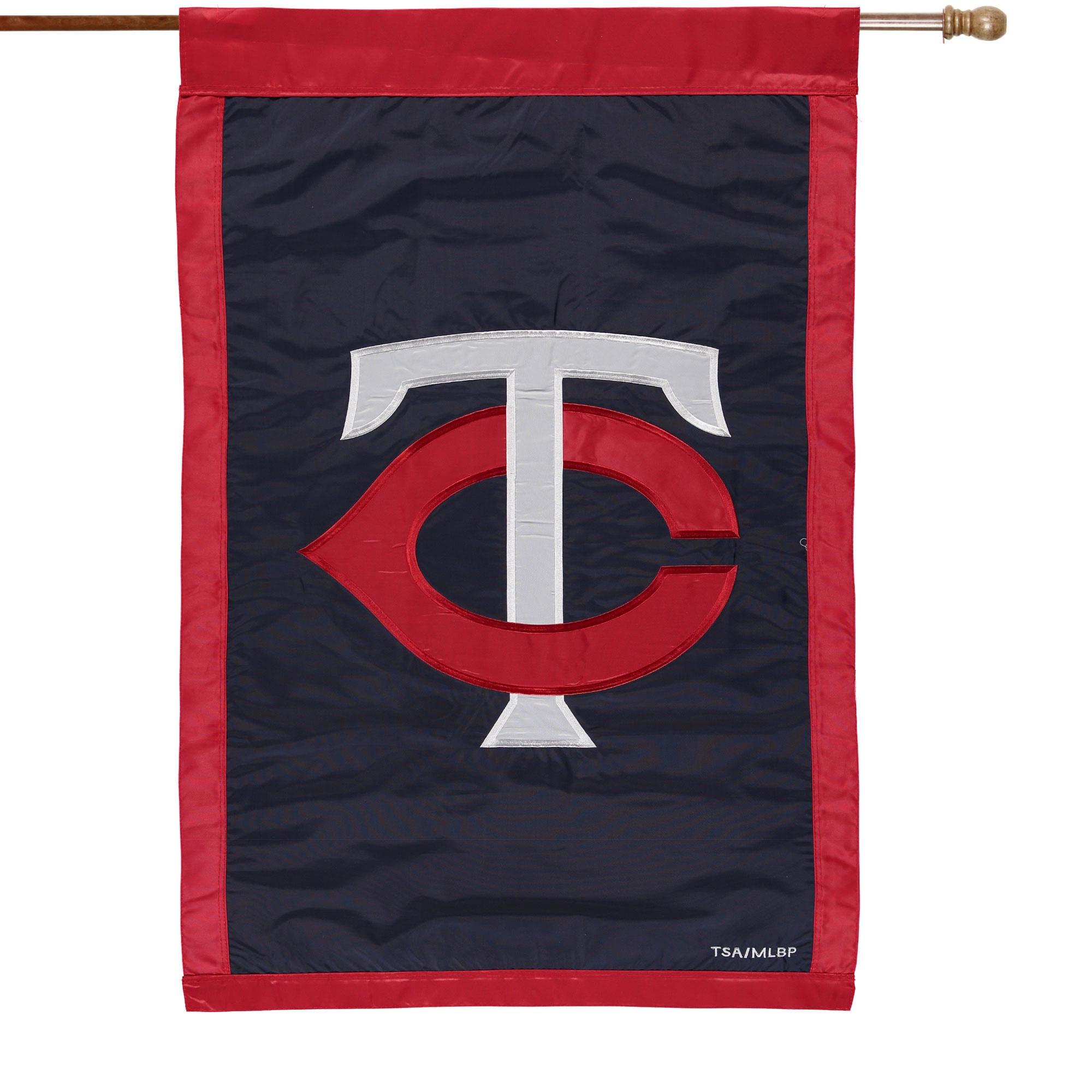 "Minnesota Twins 28"" x 44"" Applique Double-Sided House Flag"