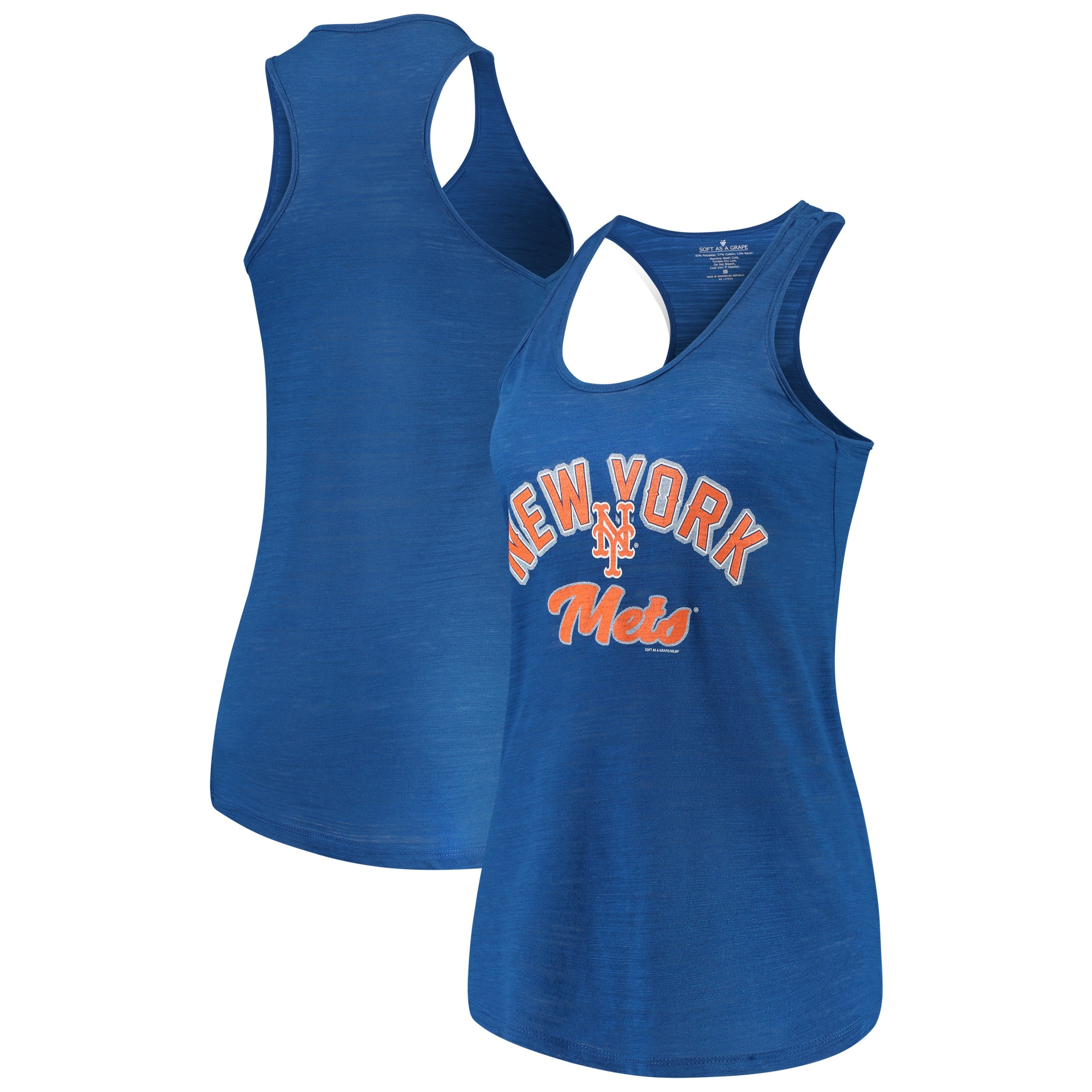 New York Mets Soft as a Grape Women's Multicount Racerback Tank Top - Royal