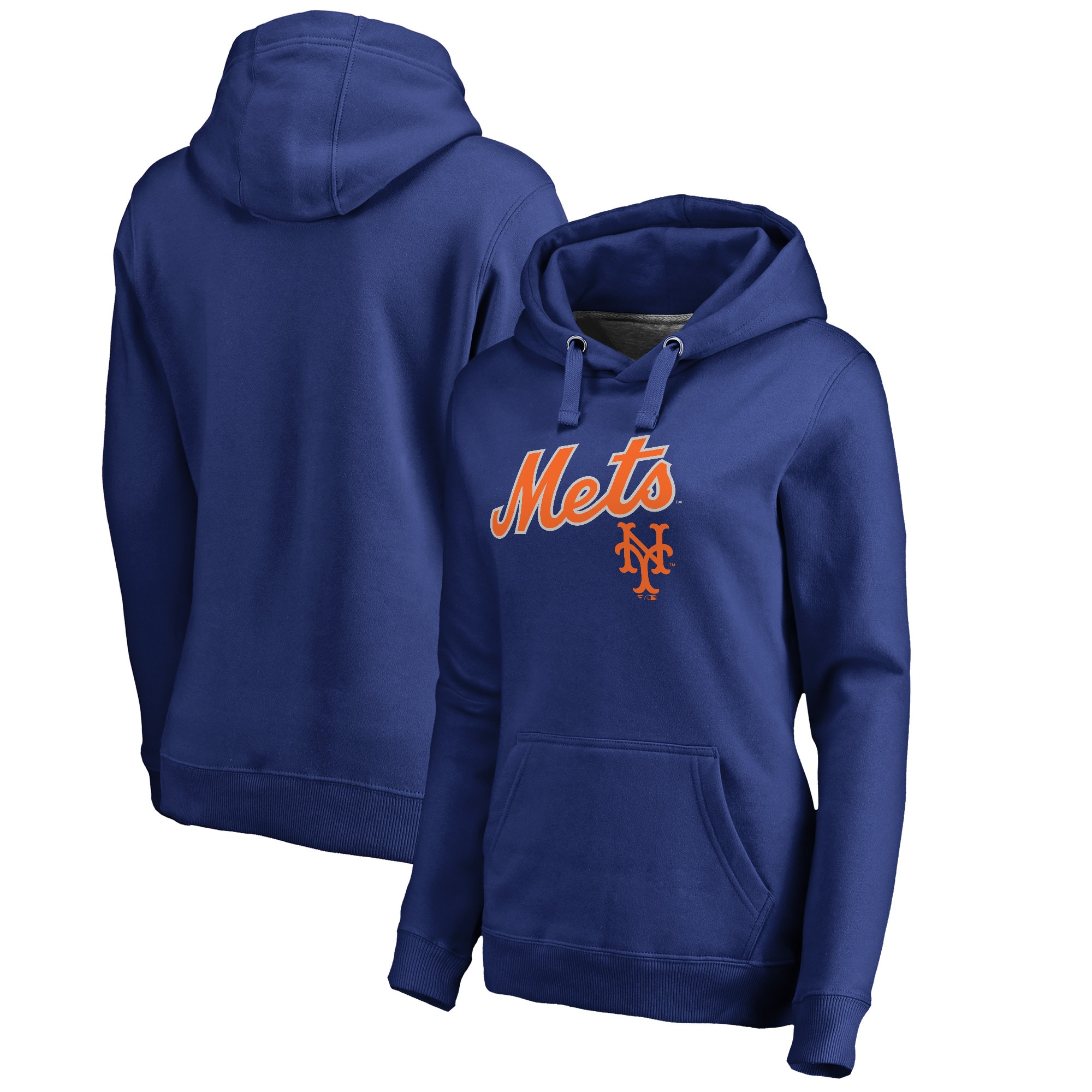 New York Mets Fanatics Branded Women's Cooperstown Collection Wahconah Pullover Hoodie - Royal