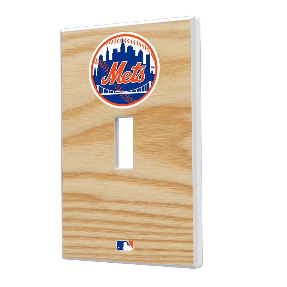 New York Mets Baseball Bat Design Single Toggle Light Switch Plate
