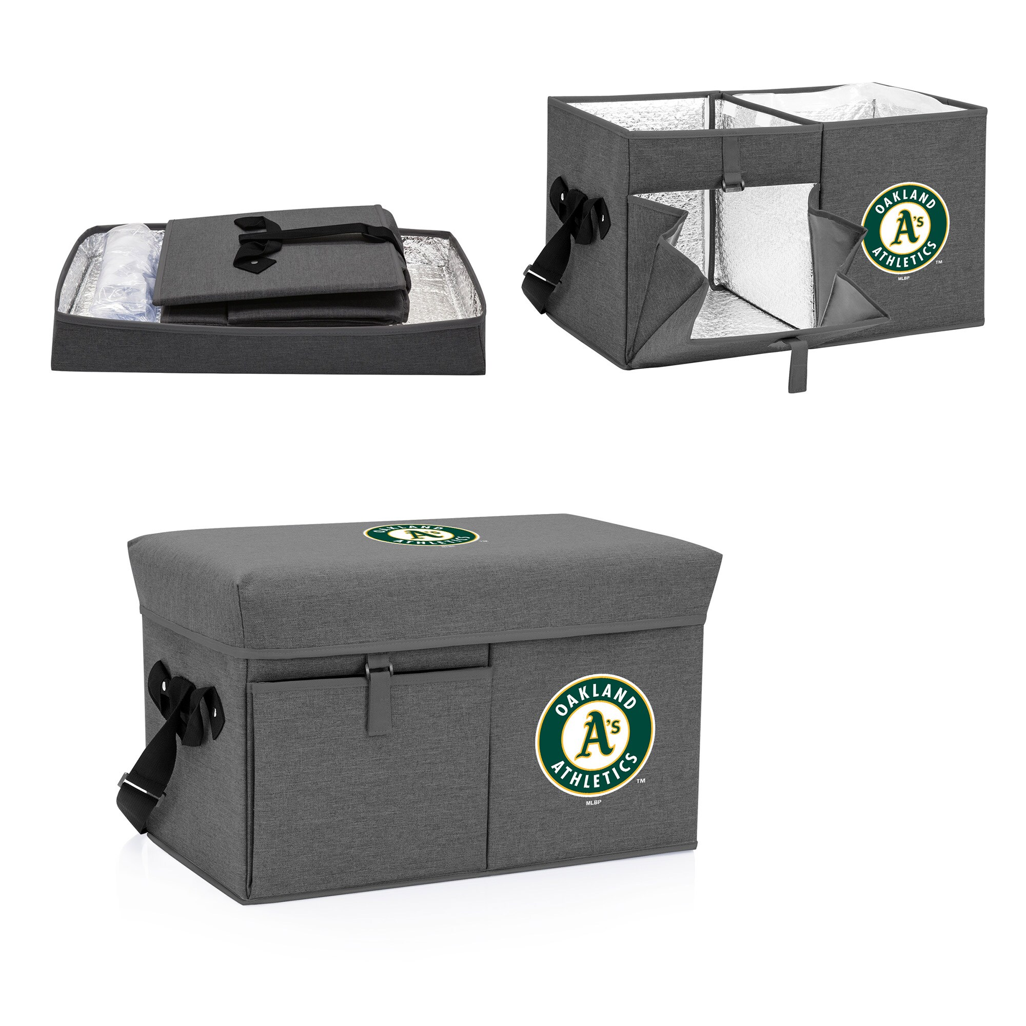 Oakland Athletics Ottoman Cooler & Seat - Gray