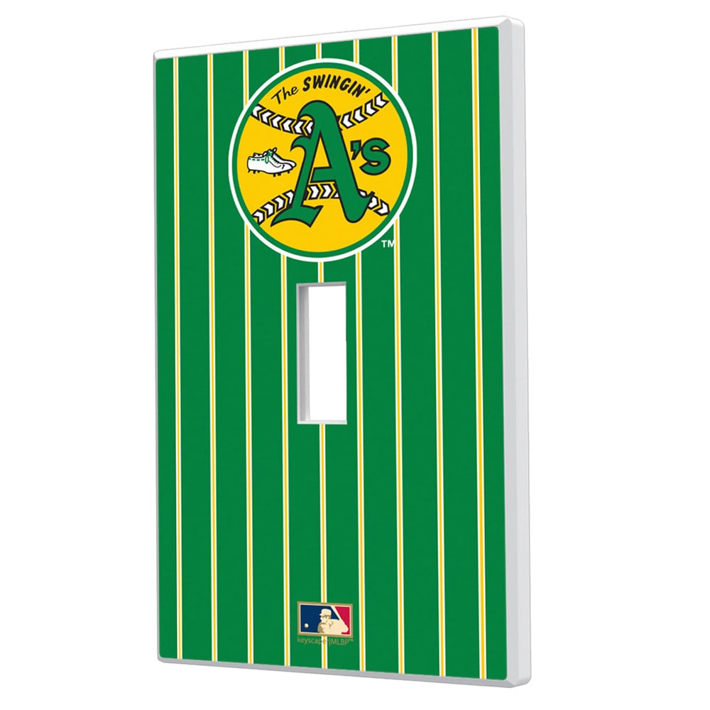 Oakland Athletics 1971-1981 Cooperstown Pinstripe Single Toggle Light Switch Plate