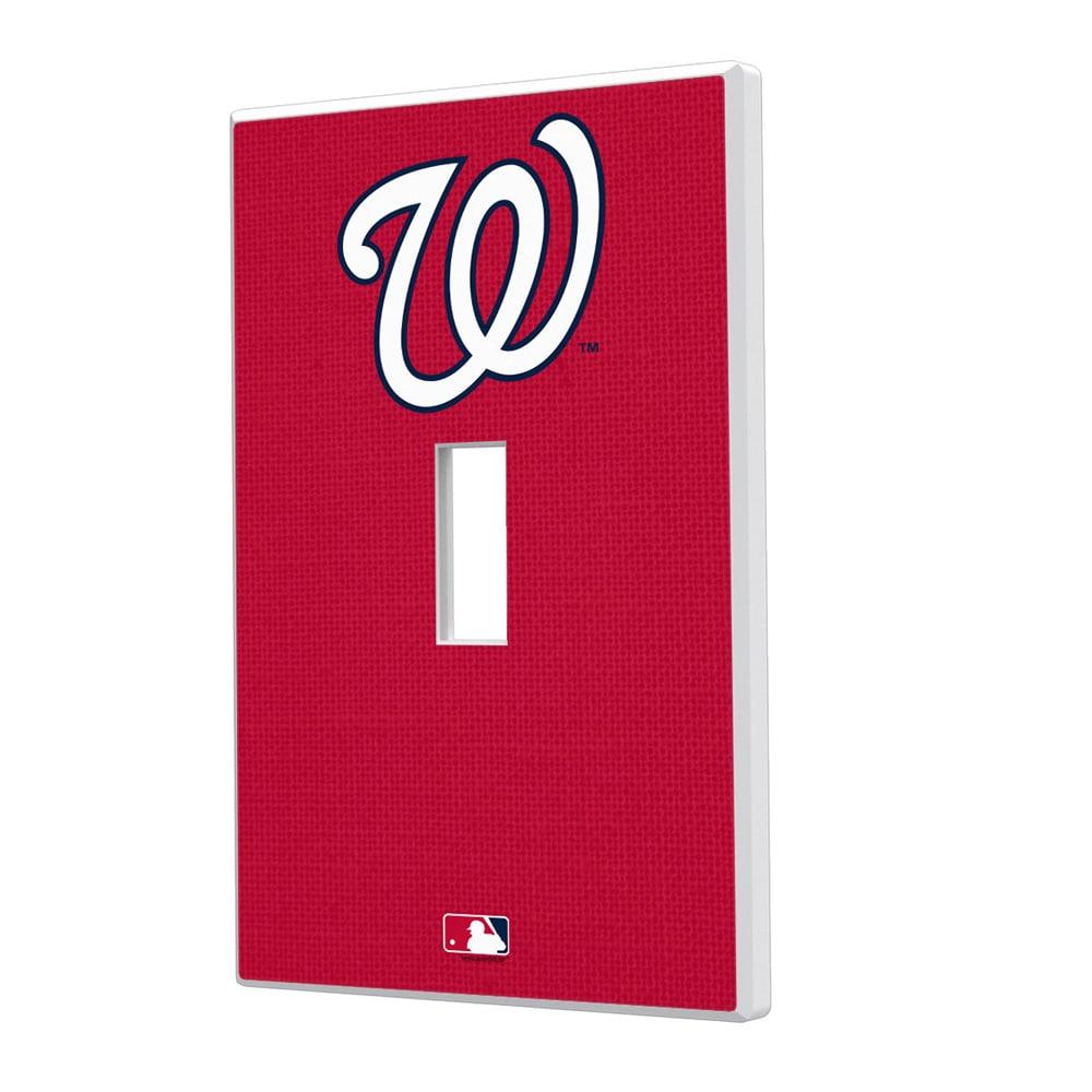 Washington Nationals Solid Single Toggle Light Switch Plate