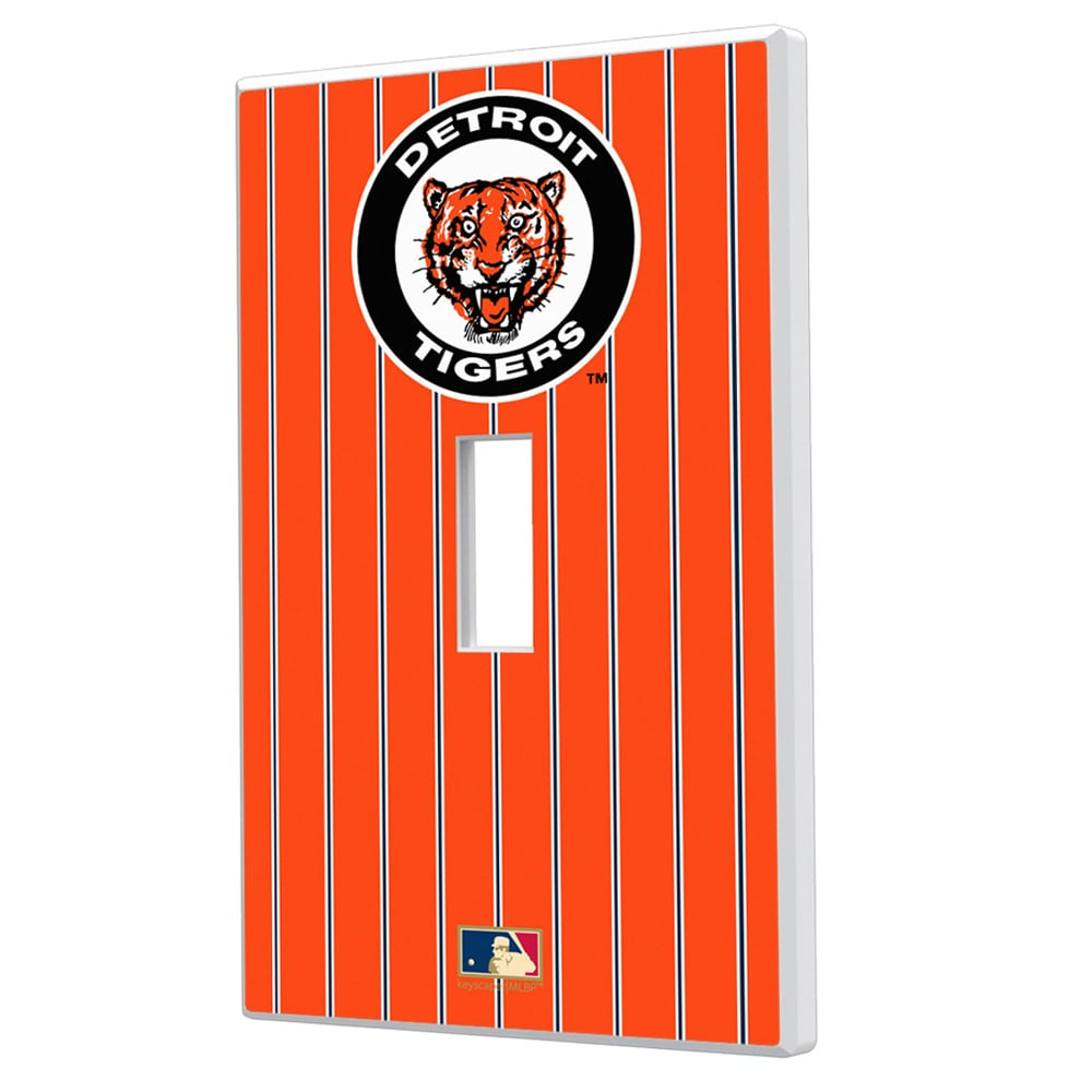 Detroit Tigers 1961-1963 Cooperstown Pinstripe Single Toggle Light Switch Plate