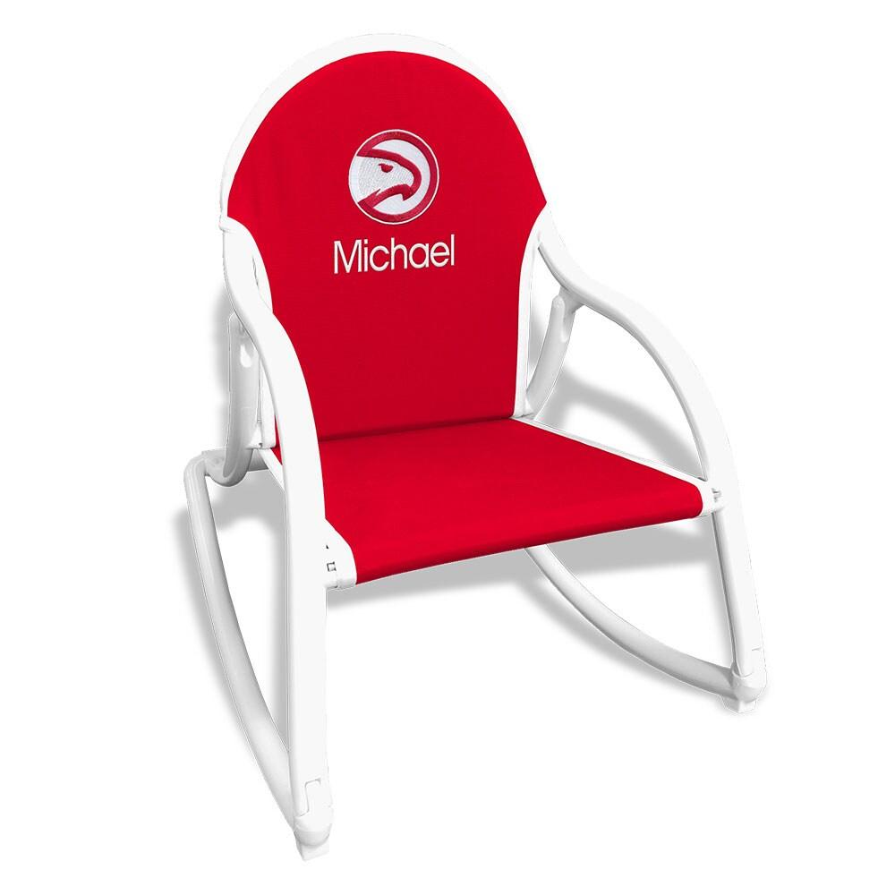 Atlanta Hawks Children's Personalized Rocking Chair - Red