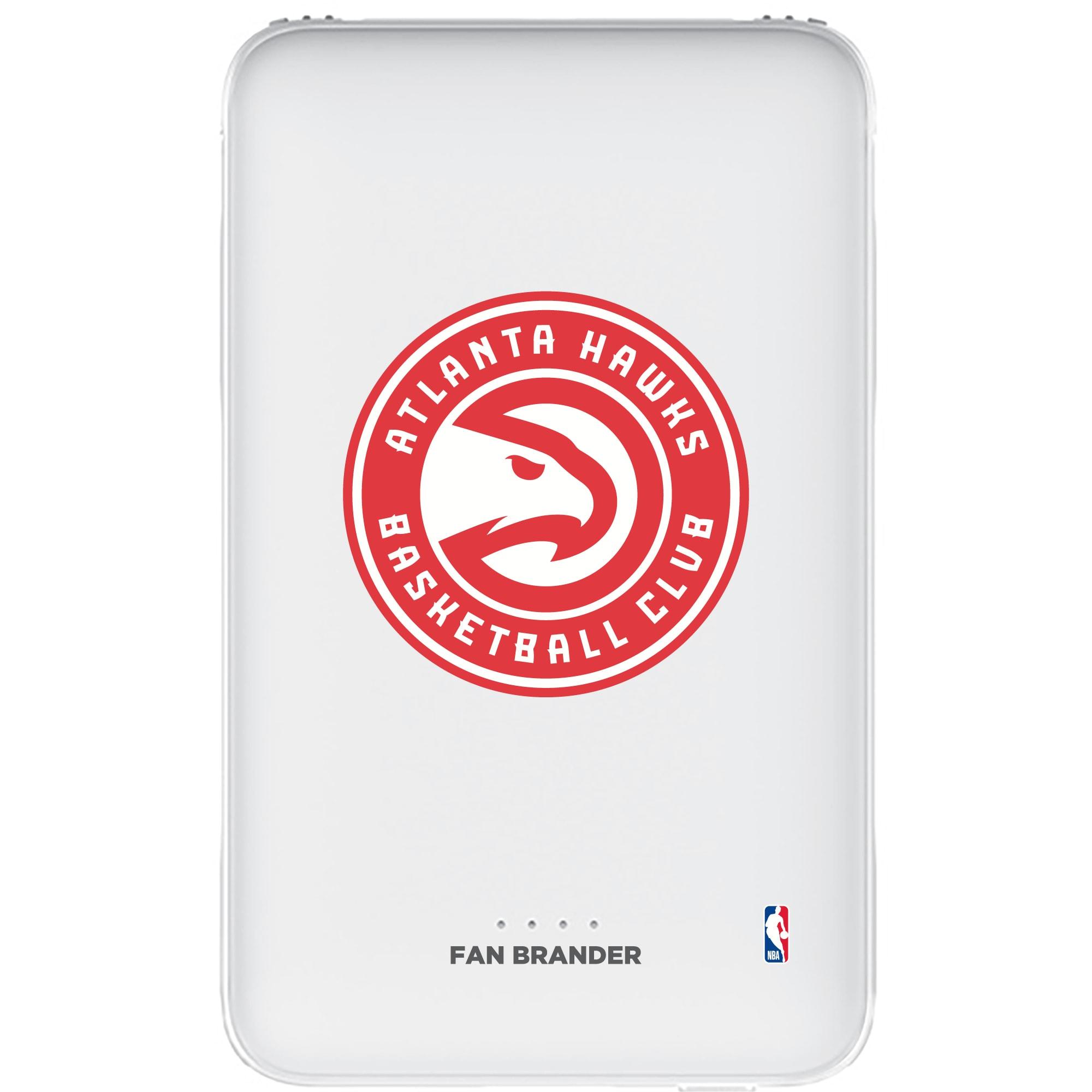 Atlanta Hawks 5000mAh Portable Power Bank - White