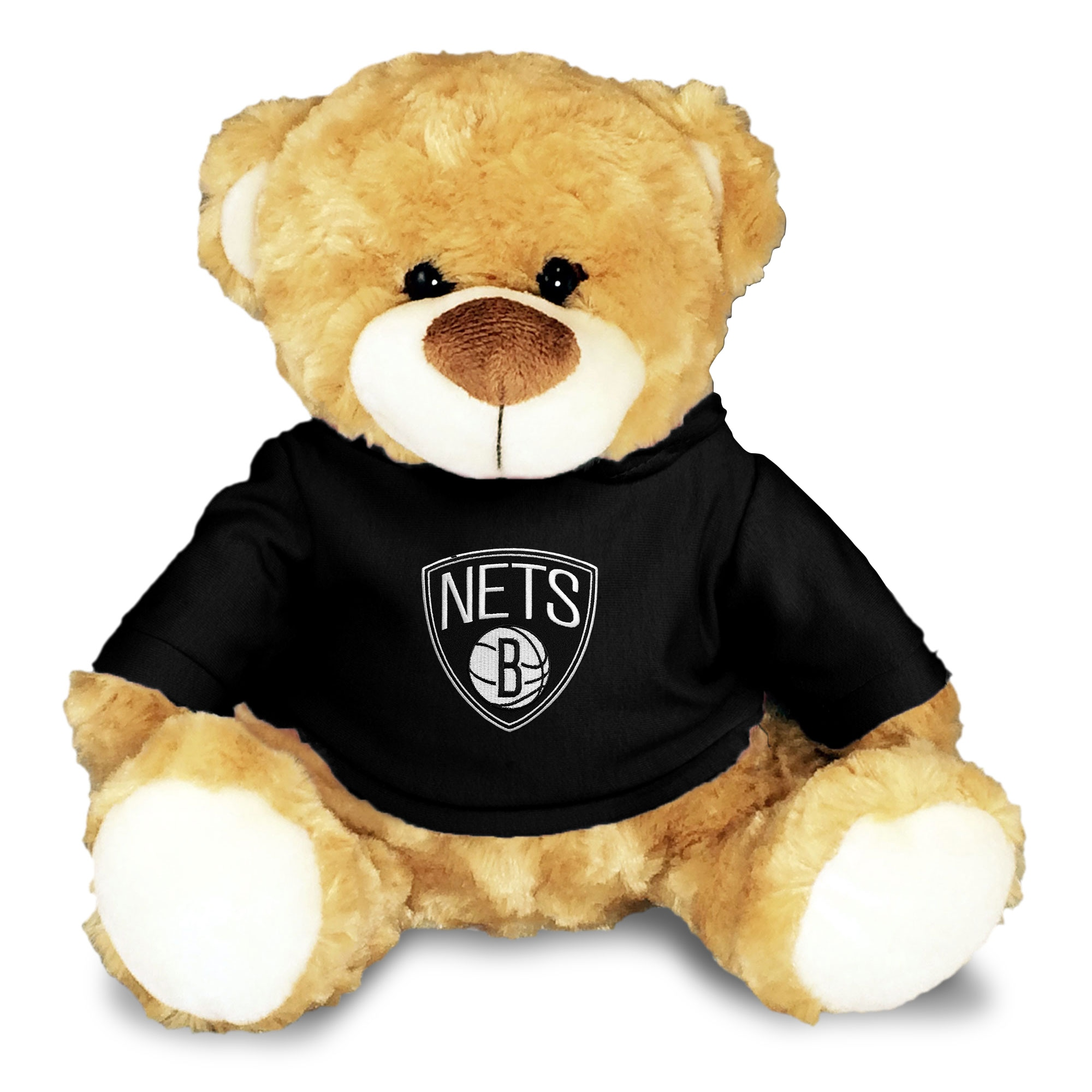 Brooklyn Nets Personalized 10'' Plush Bear - Black
