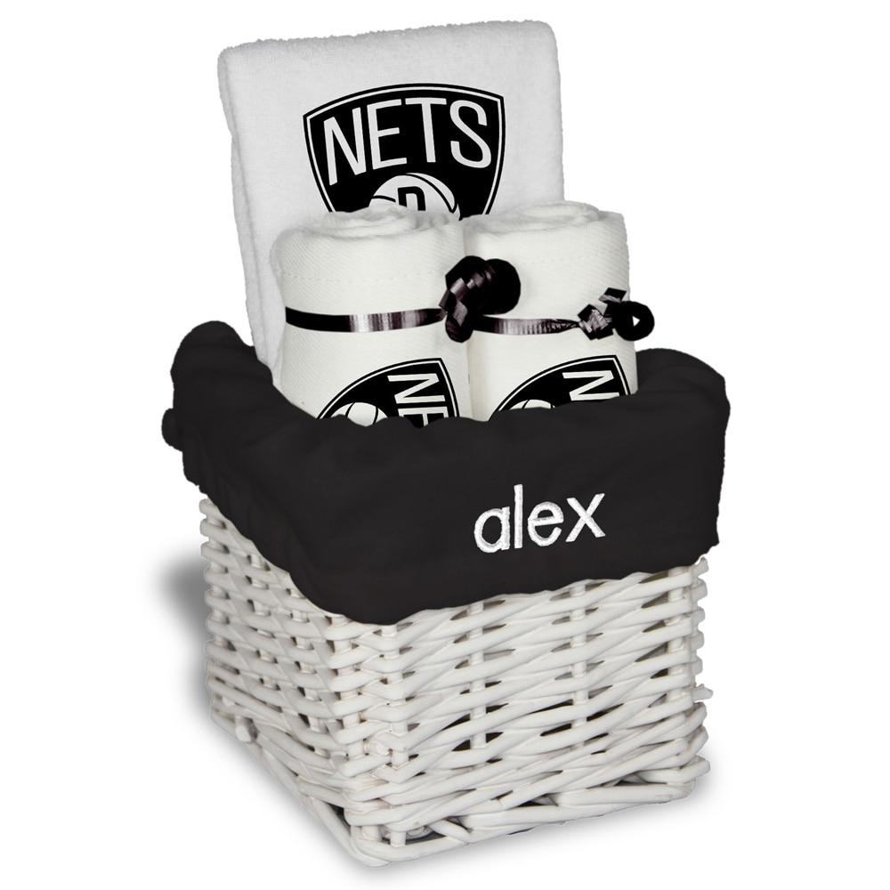 Brooklyn Nets Personalized Small Gift Basket - White