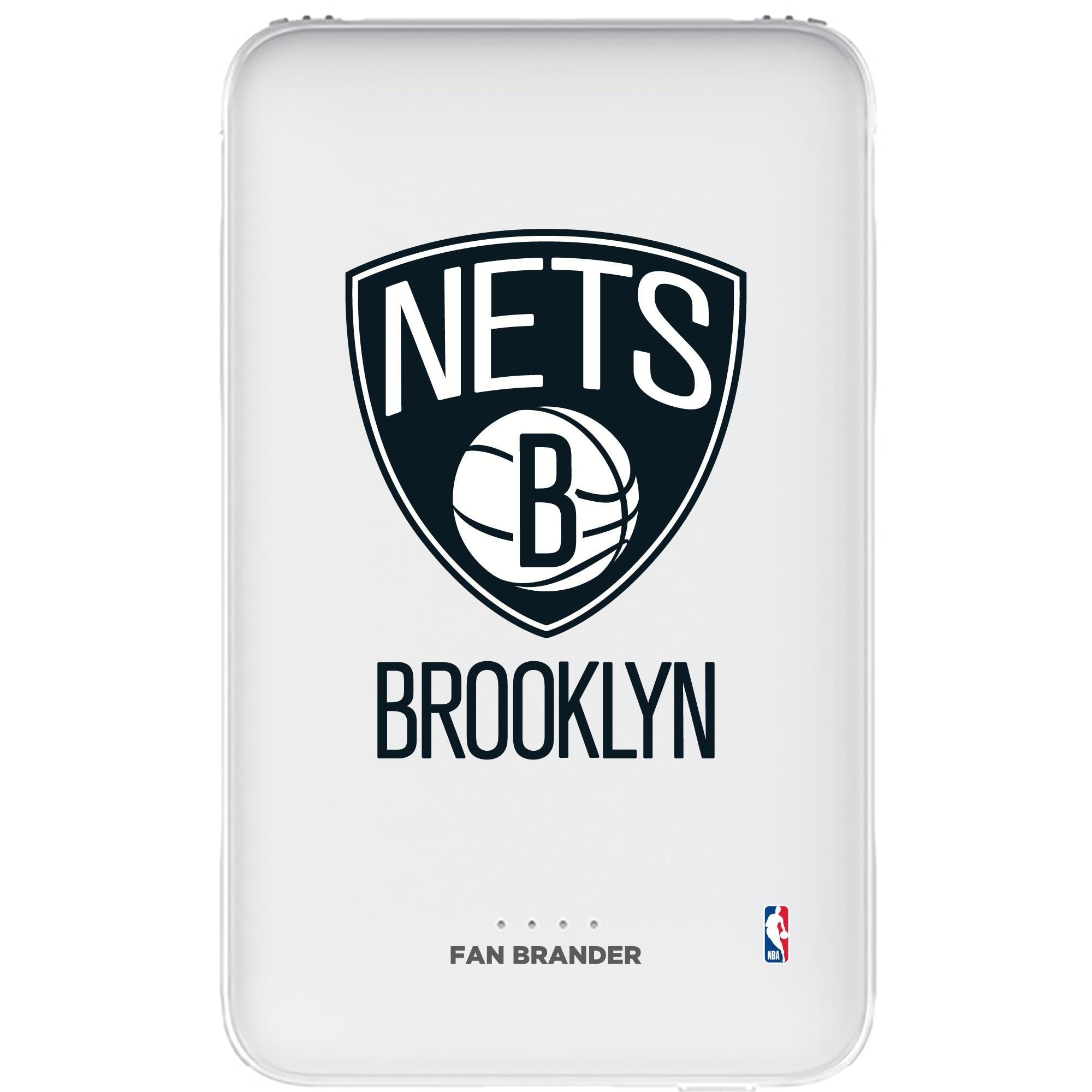 Brooklyn Nets 5000mAh Portable Power Bank - White