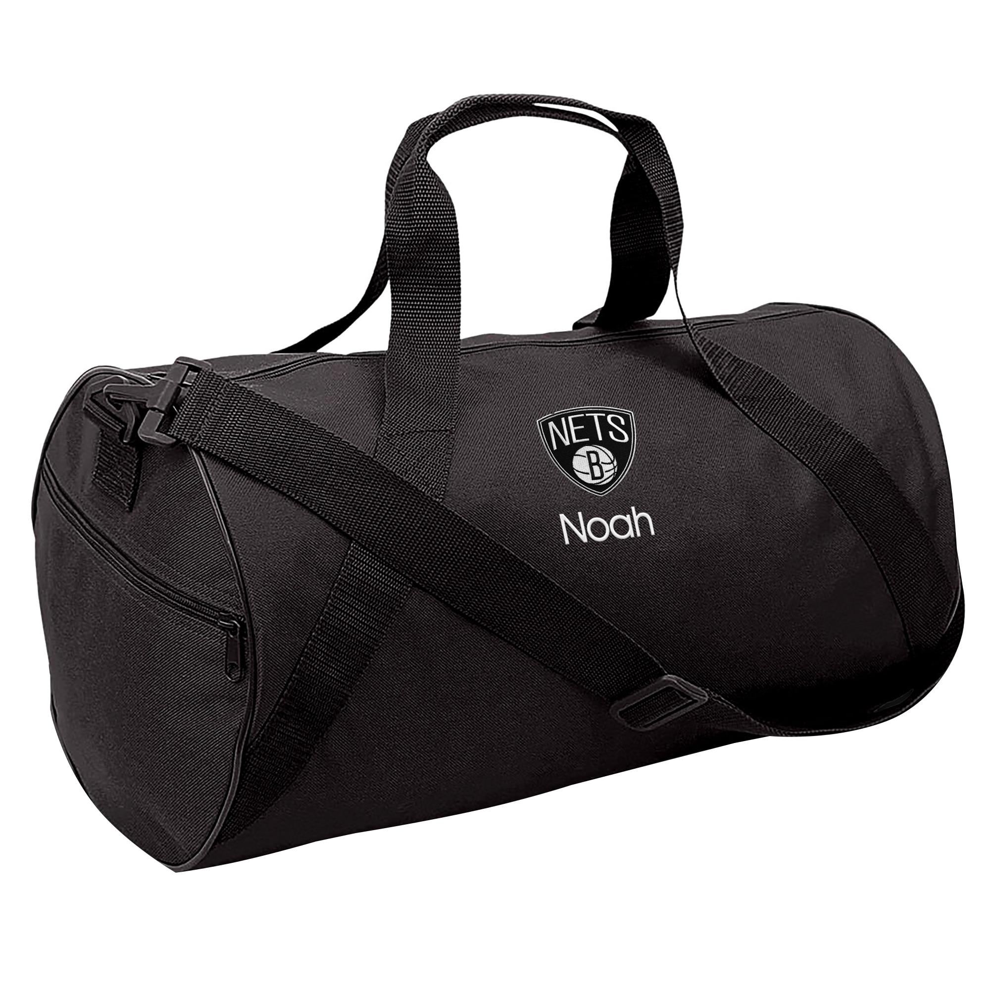 Brooklyn Nets Youth Personalized Duffle Bag - Black