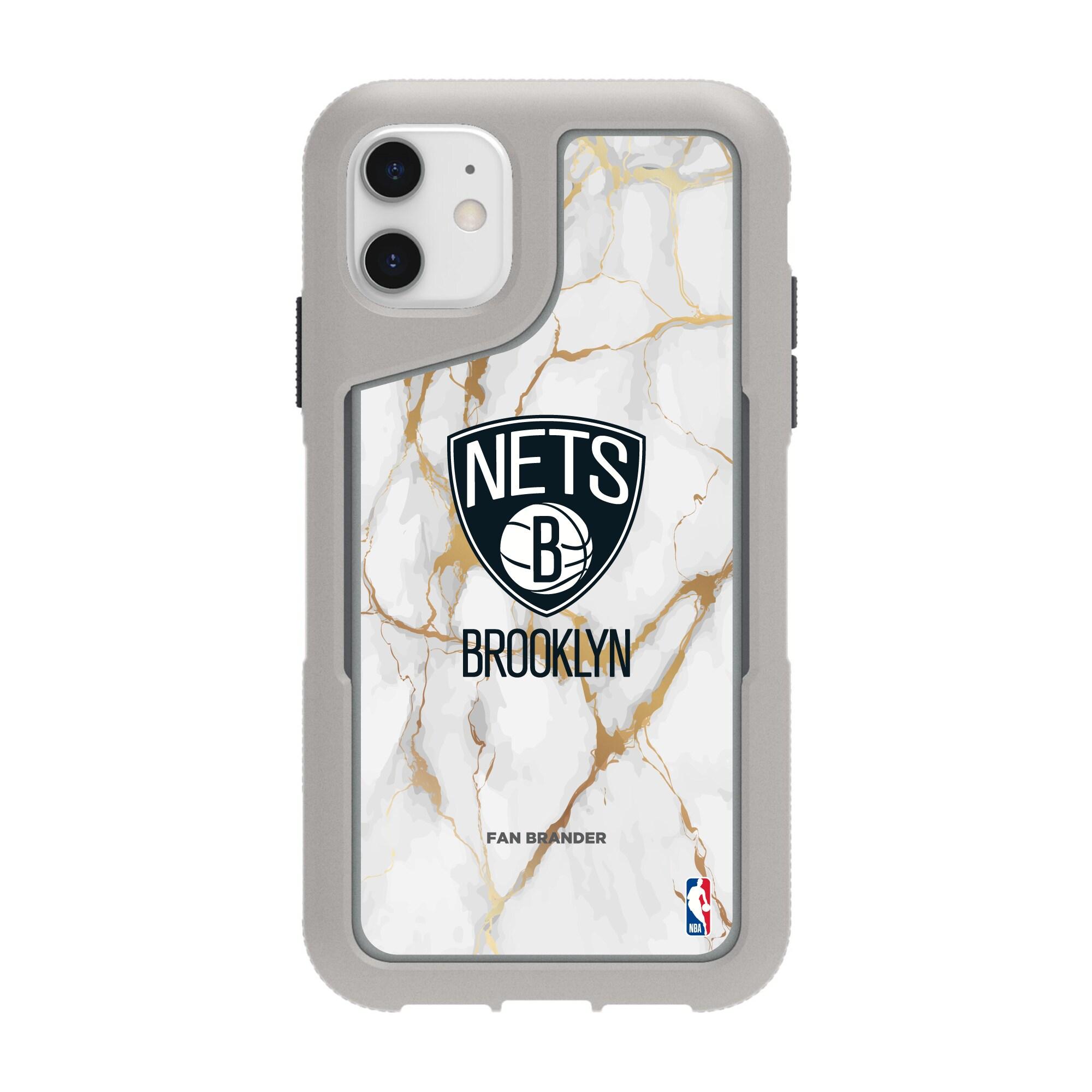 Brooklyn Nets Griffin Survivor Endurance Marble iPhone Case - Gray