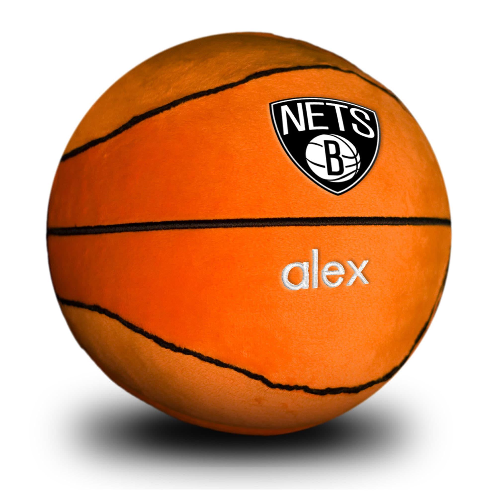 Brooklyn Nets Personalized Plush Baby Basketball - Orange