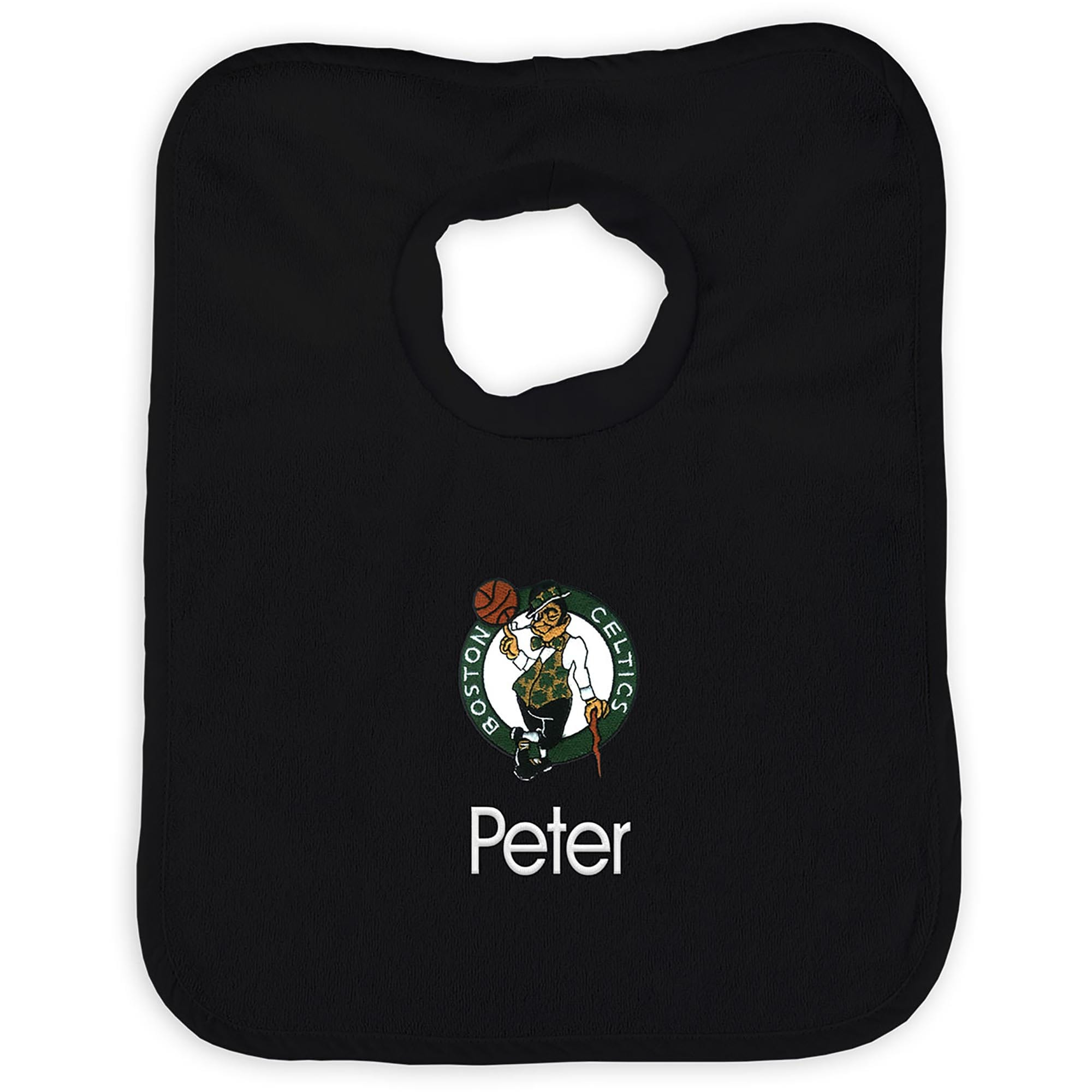 Boston Celtics Infant Personalized Bib - Black
