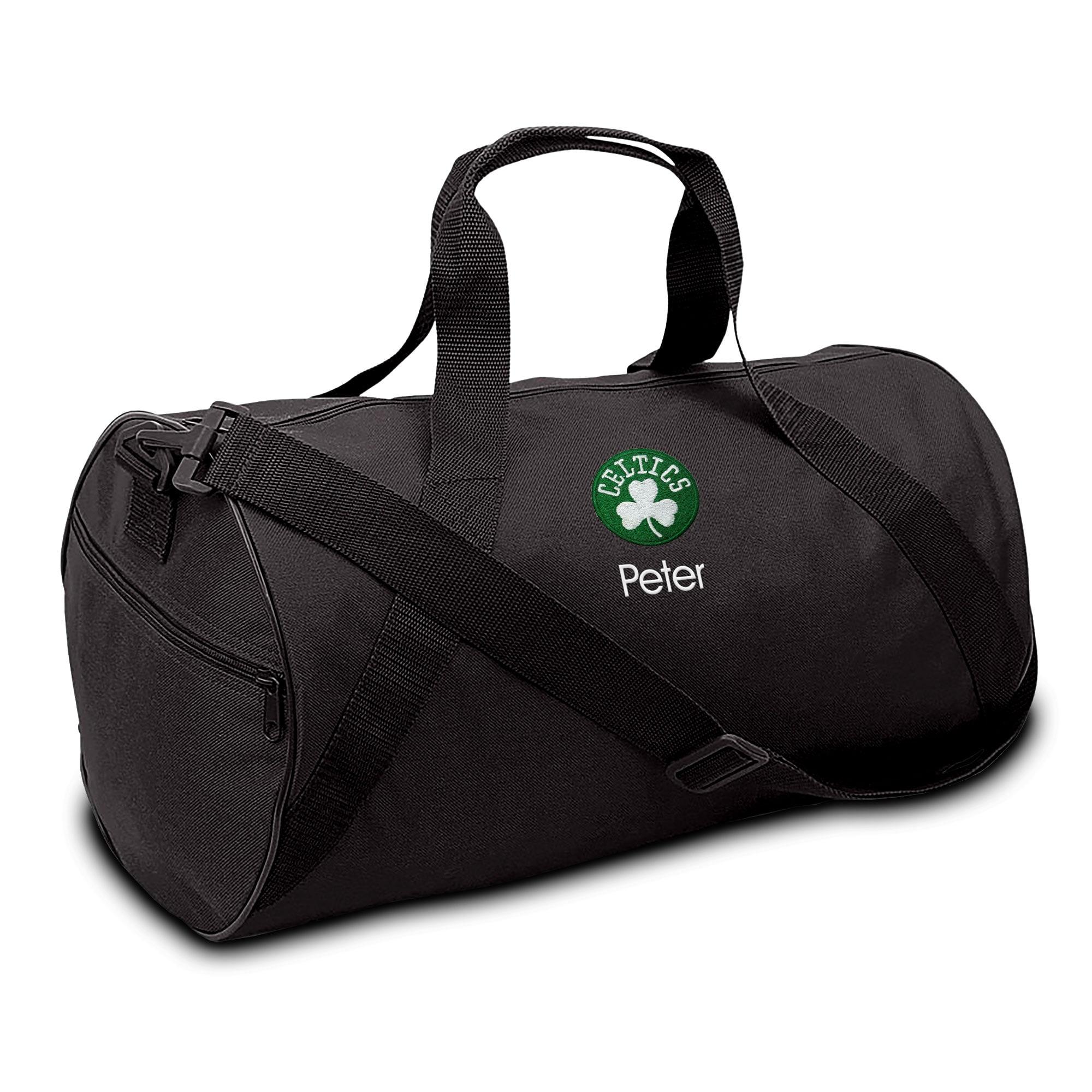 Boston Celtics Youth Personalized Duffel Bag - Black